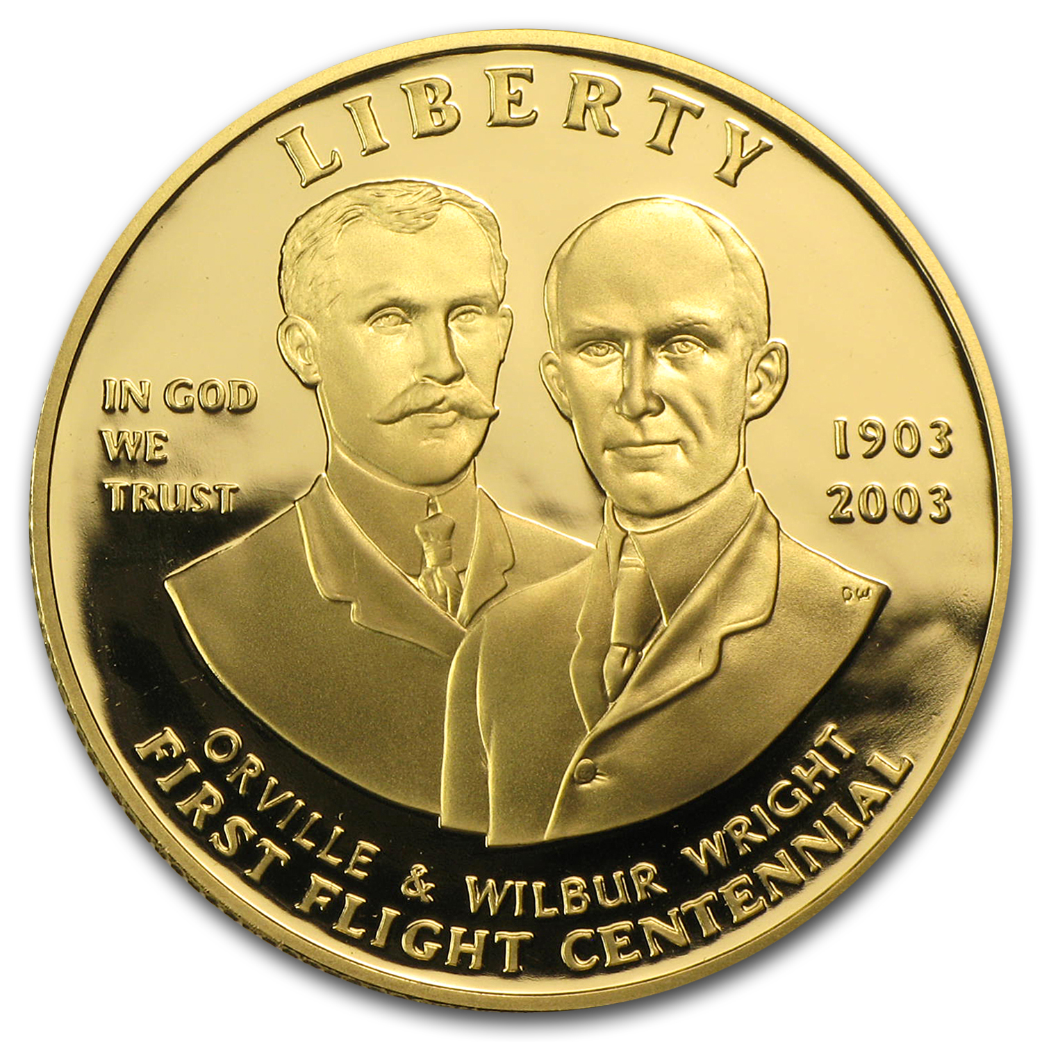 2003-W Gold $10 Commem First Flight Centennial Prf (Capsule only)