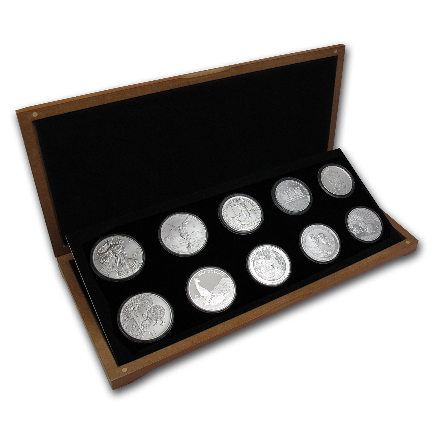 2013 10-Coin 1 oz Around the World Silver Bullion Set BU