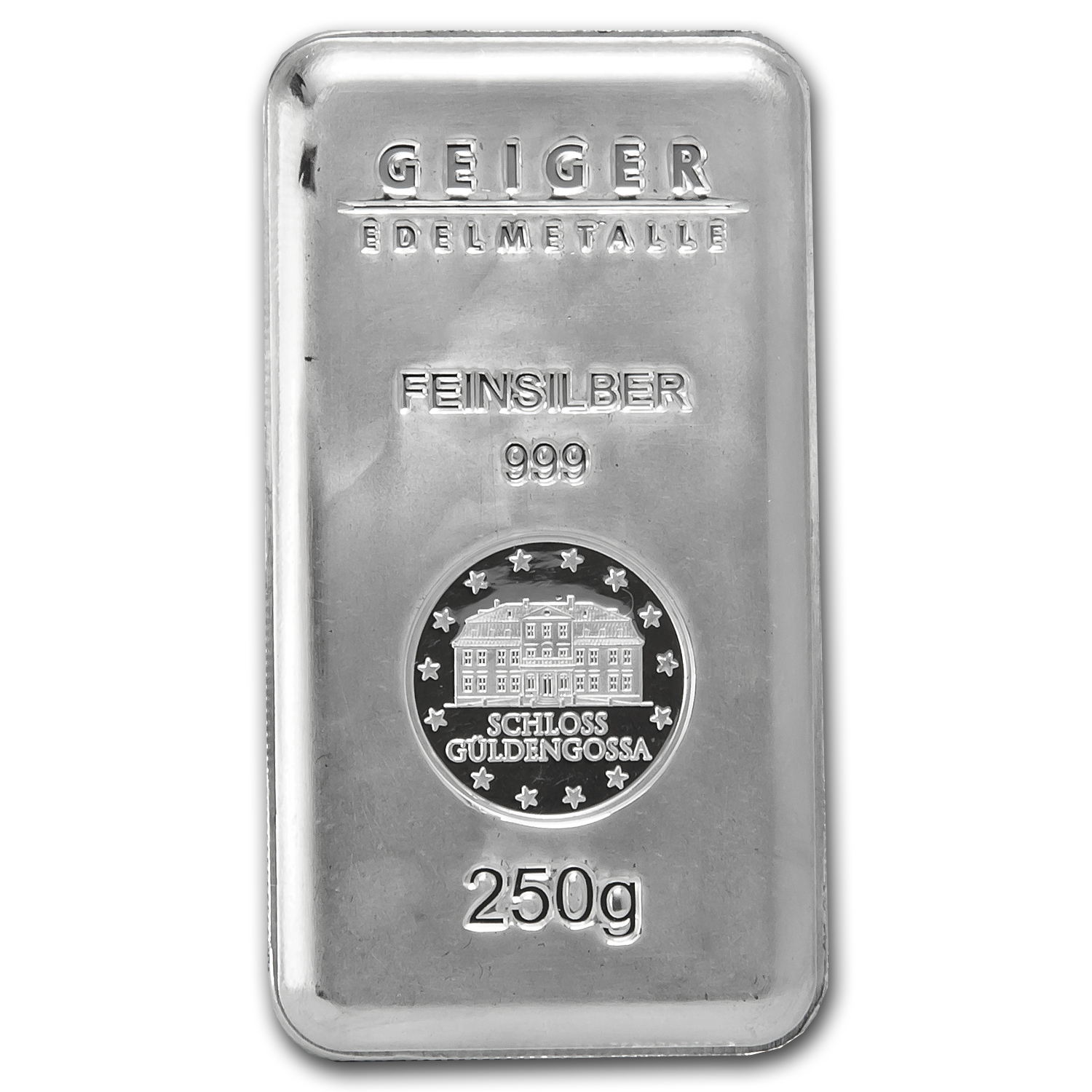 250 gram Silver Bar - Geiger (Security Line Series)