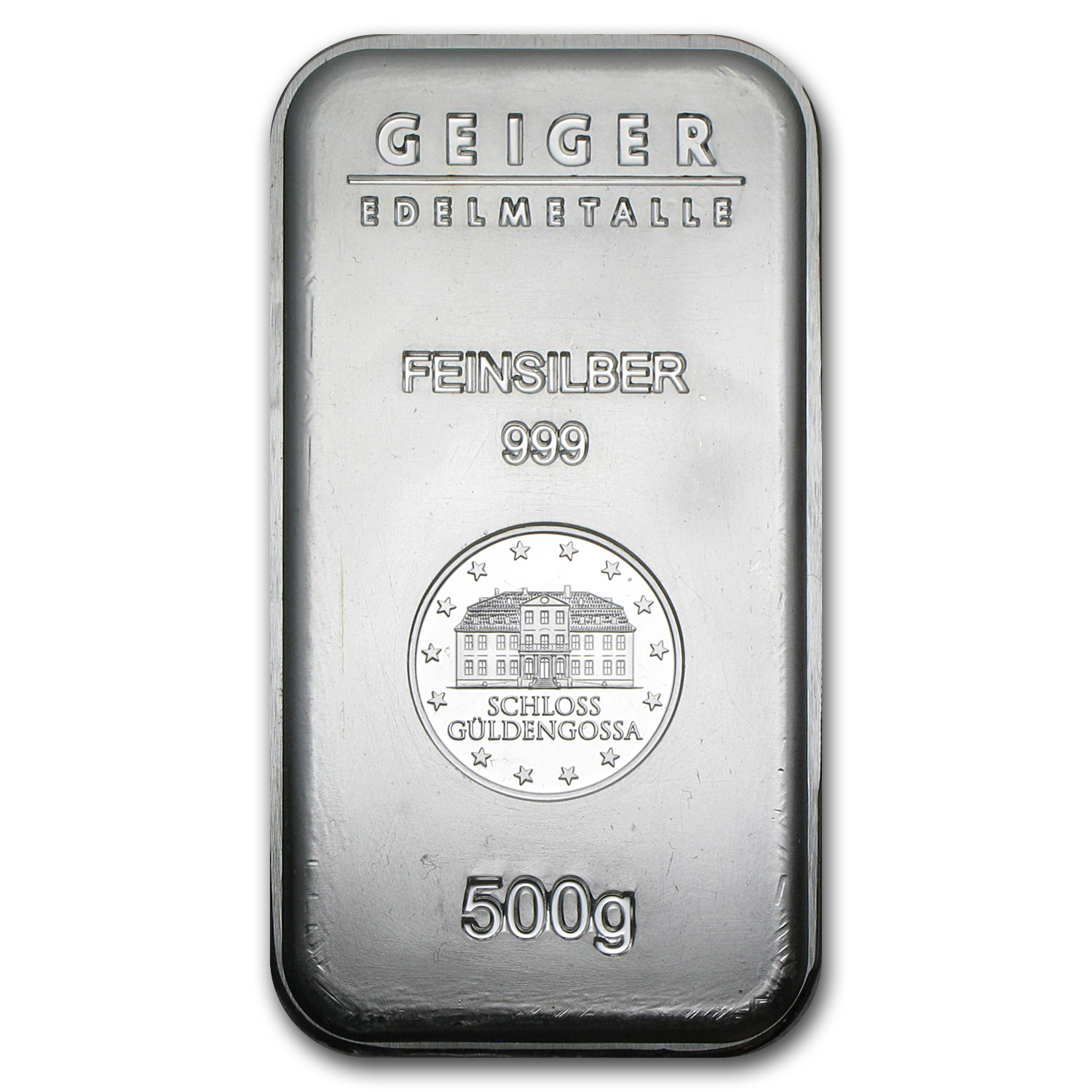 500 gram Silver Bar - Geiger (Security Line Series)