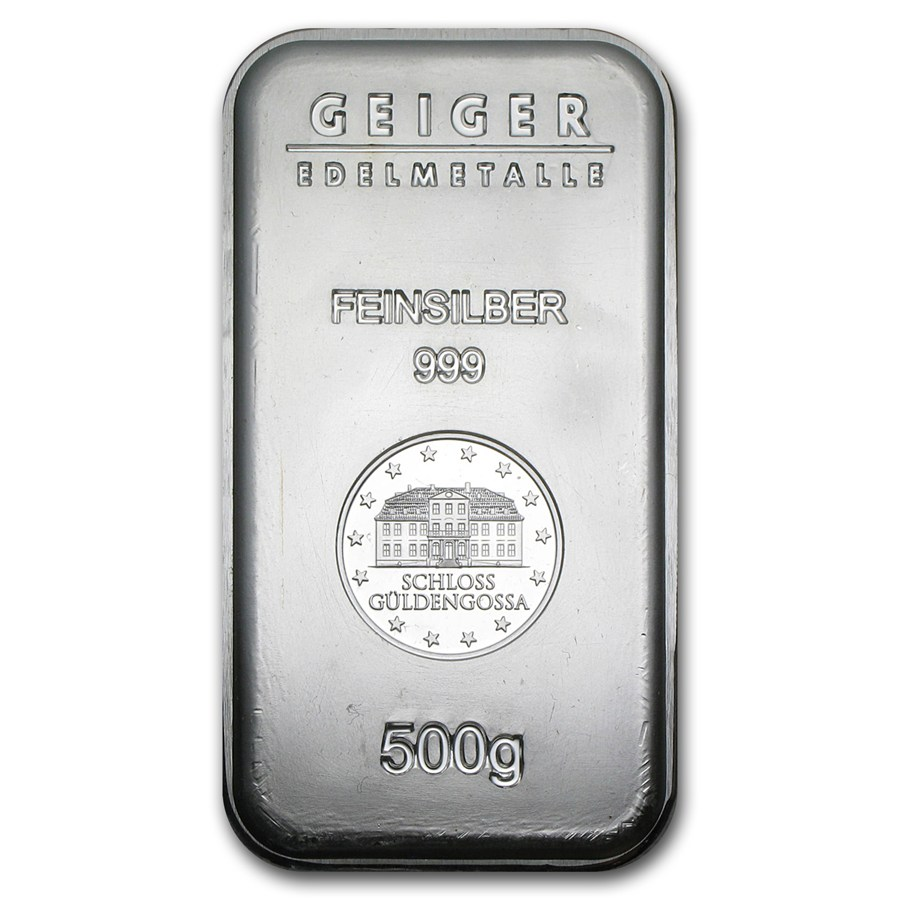 500 Gram Silver Bar Geiger 1 2 Kilo Silver Bullion Bars
