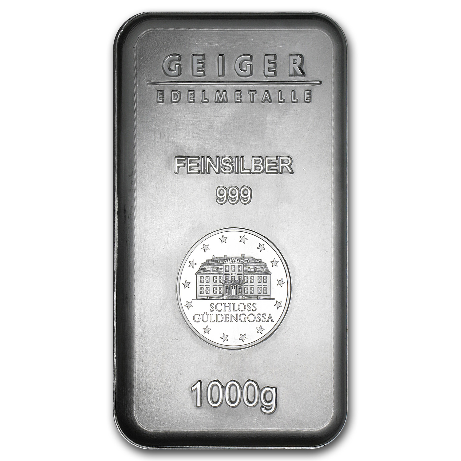 1 Kilo Silver Bars - Geiger (Security Line/1000 Gram/Scruffy)