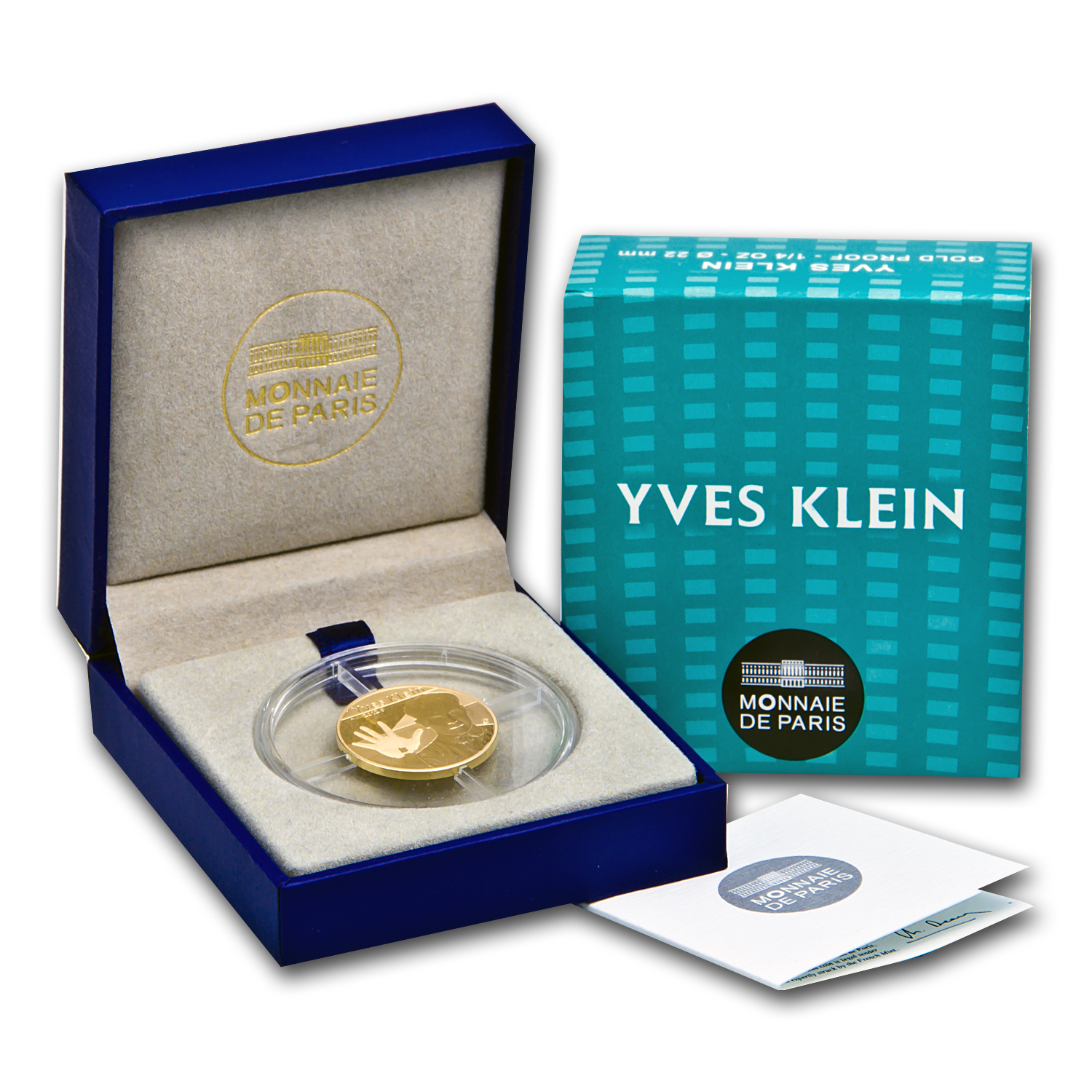 2012 1/4 oz Proof Gold European Program Yves Klein