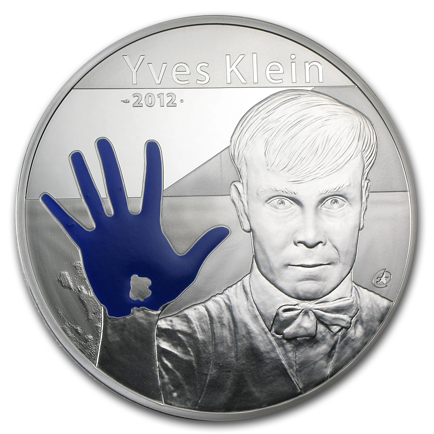 2012 10 oz Silver €100 European Program Proof (Yves Klein)