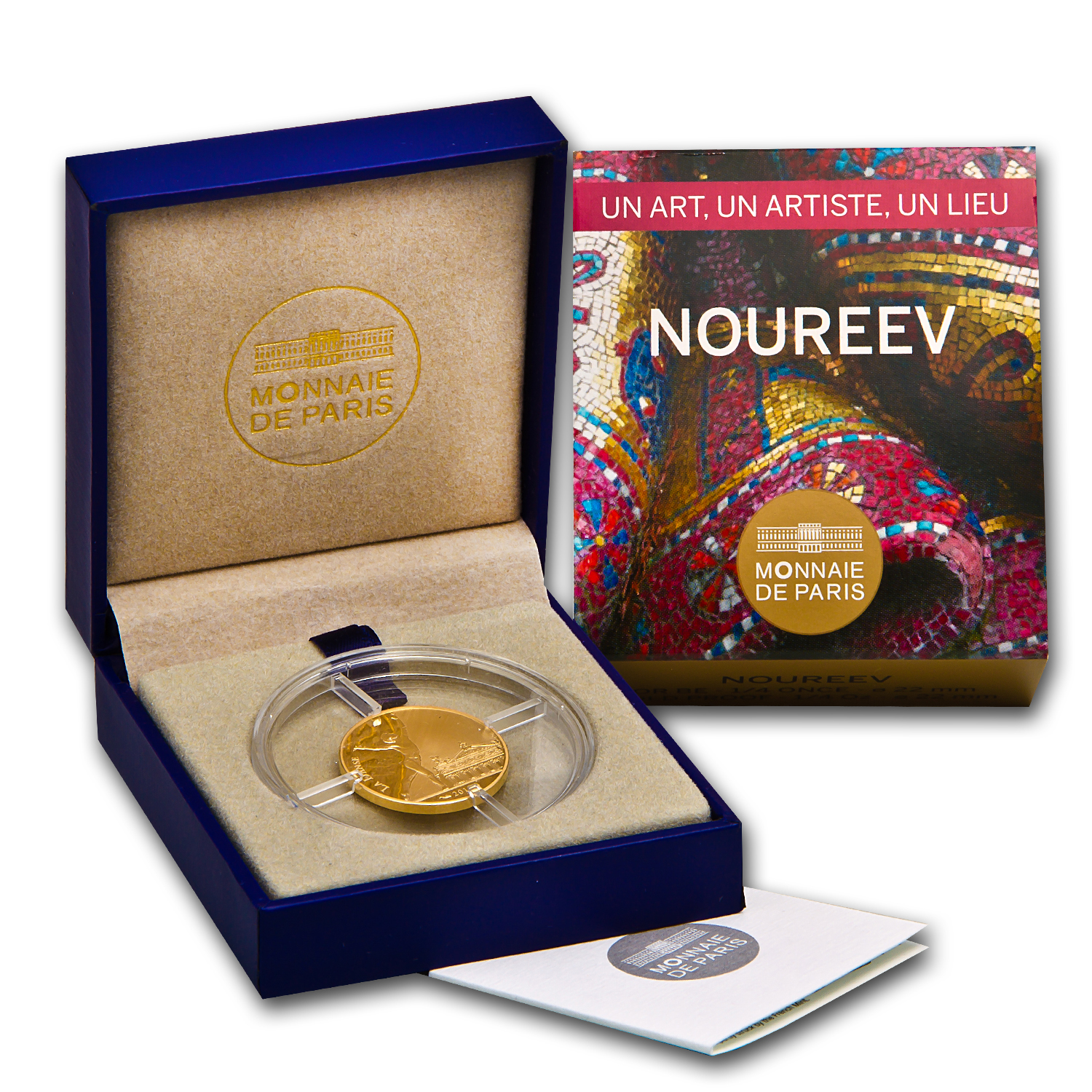"2013 1/4 oz France Proof Gold ""7"" Arts Series Rudolf Nureyev"