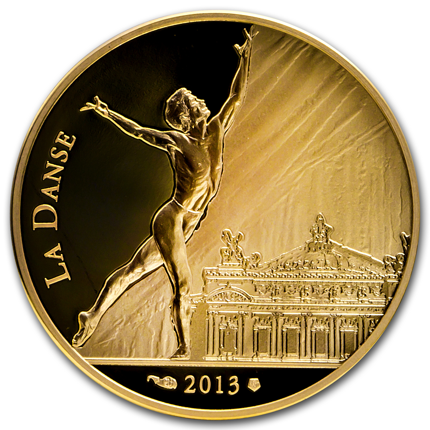 "2013 1/4 oz France Gold Proof ""7"" Arts Series - Rudolf Nureyev"