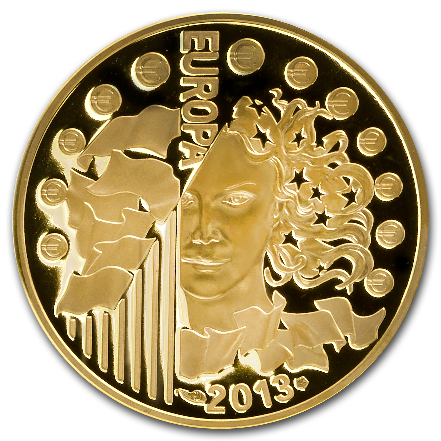 2013 1/4 oz Gold Europa Series 50th Anniv of Élysée Treaty