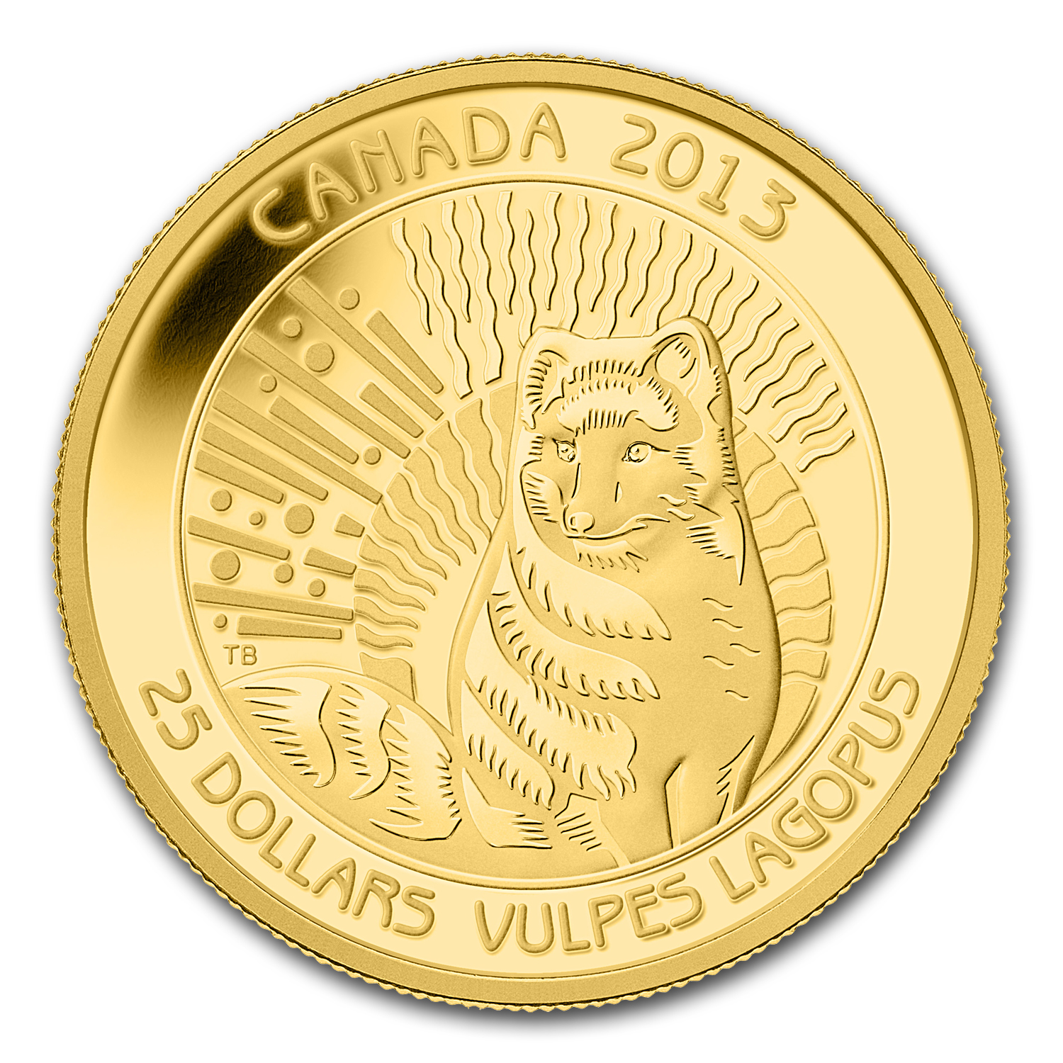 2013 Canada 1/4 oz Proof Gold $25 Arctic Fox