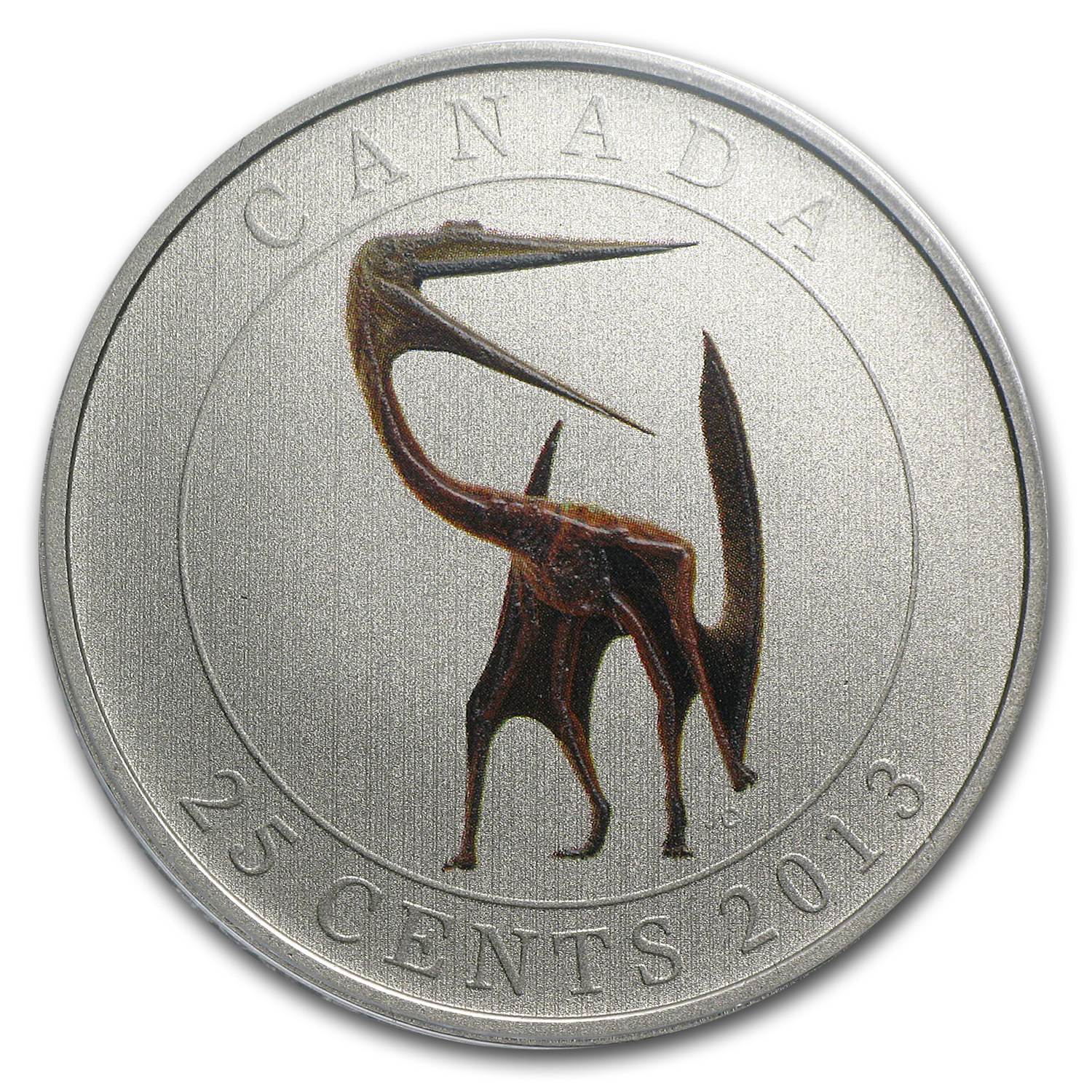 2013 Canada $0.25 Glow in the Dark Dinosaur Quetzalcoatlus