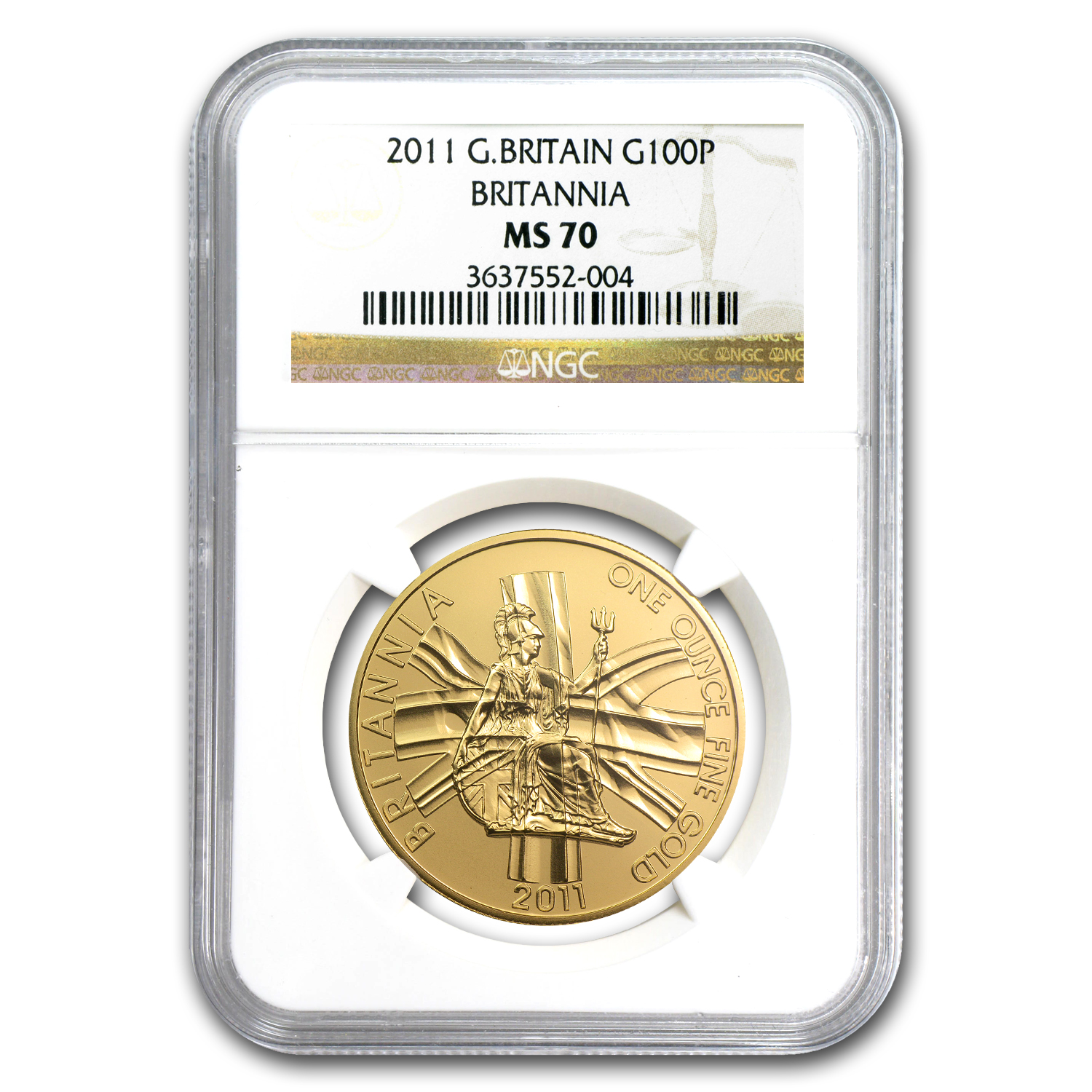 2011 Great Britain Gold 1 oz Britannia MS-70 NGC