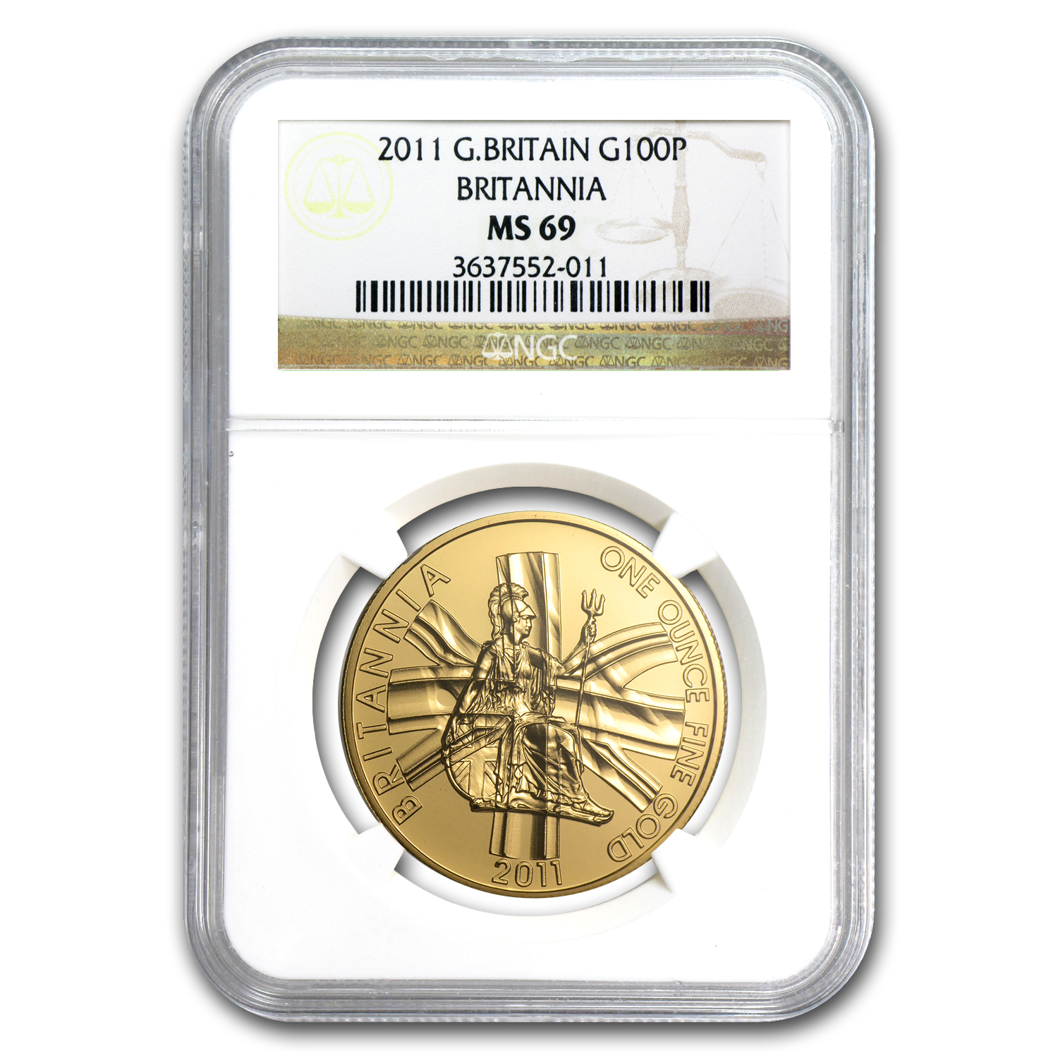 2011 1 oz Gold Britannia MS-69 NGC