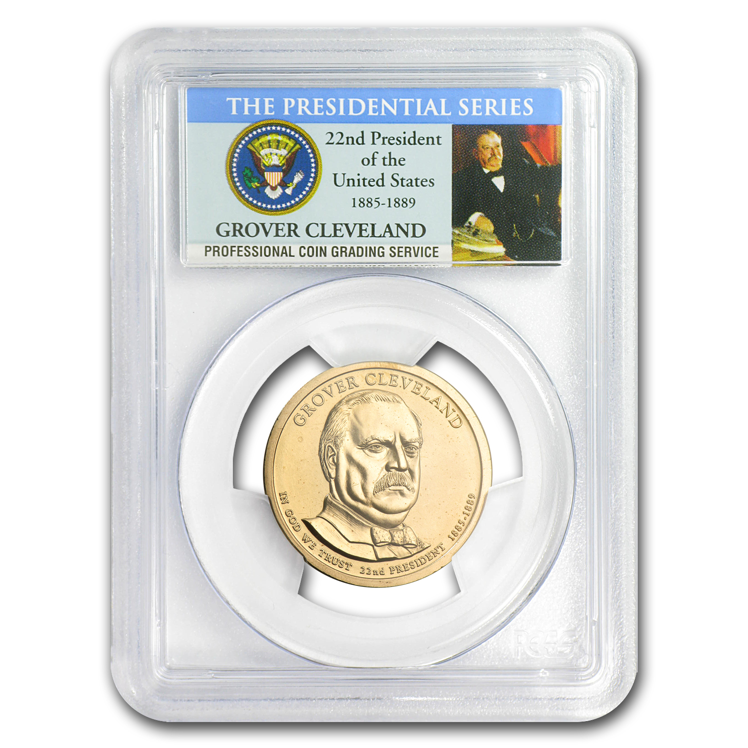 2012-P Grover Cleveland Position B Presidential Dollar MS-68 PCGS