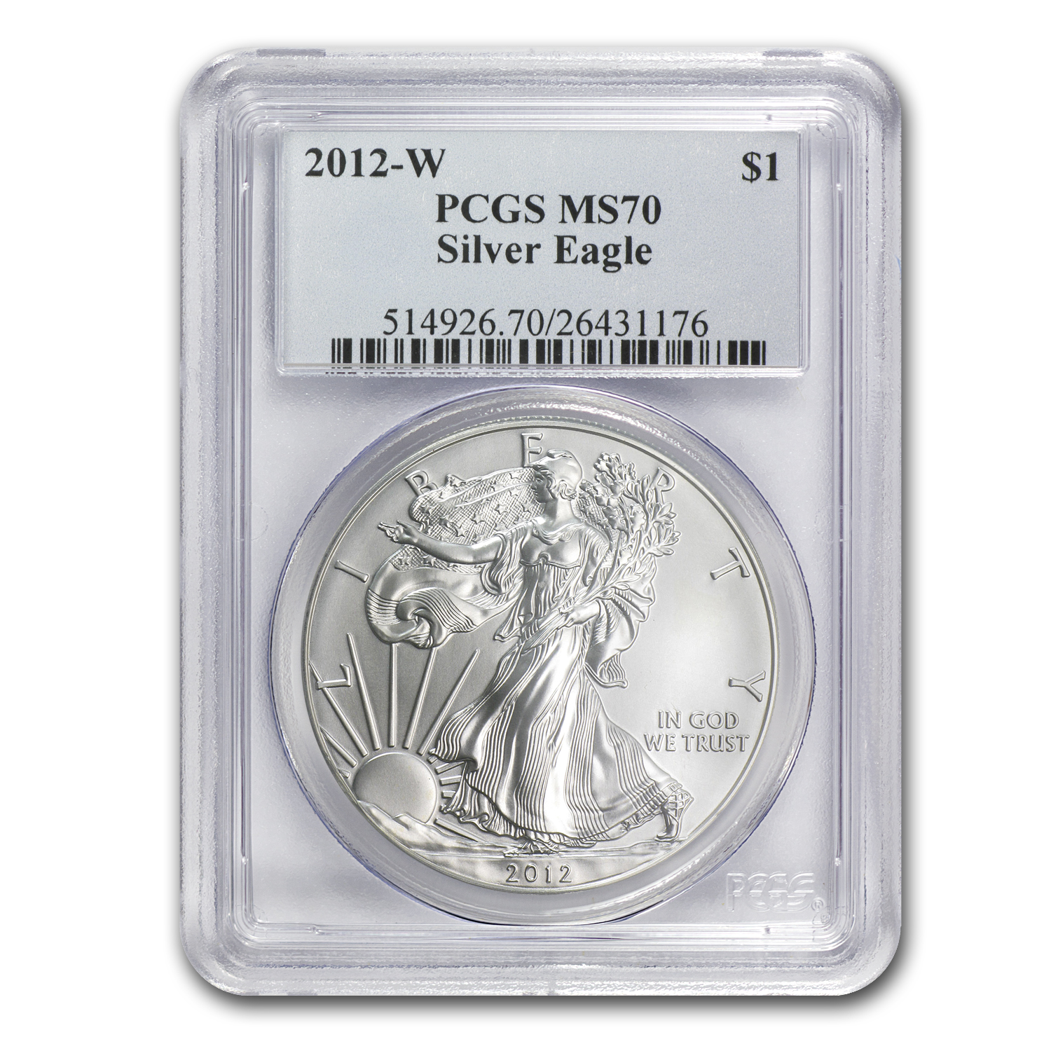 2012-W (Burnished) Silver Eagle MS-70 PCGS