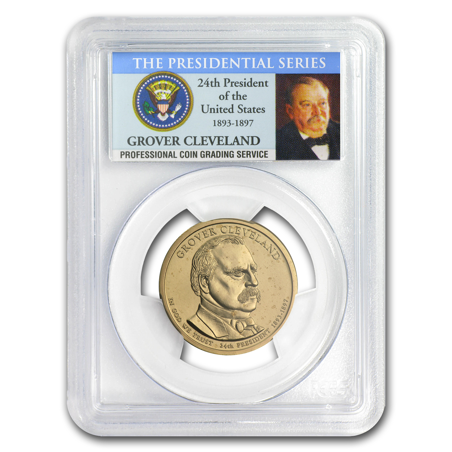 2012-P B Position Grover Cleveland Presidential Dollar MS-67 PCGS