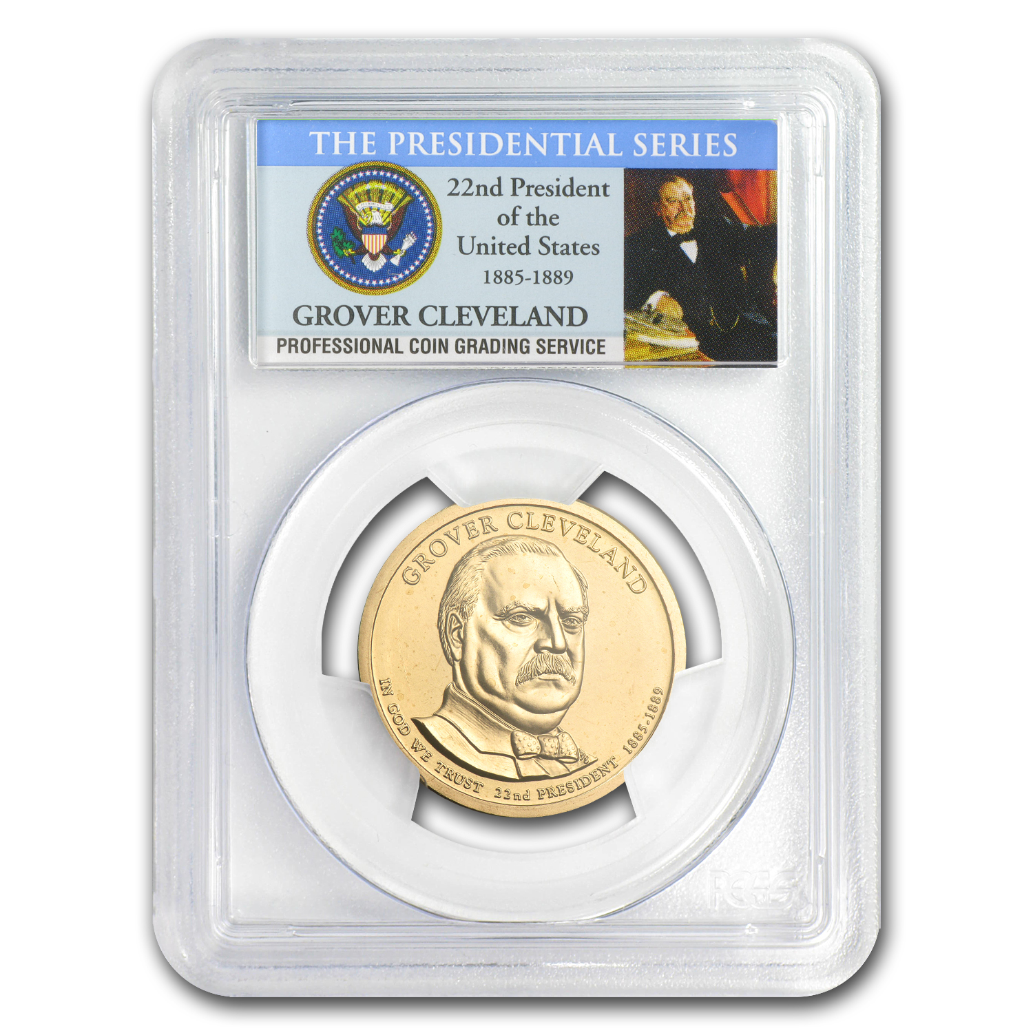 2012-P A Position Grover Cleveland Presidential Dollar MS-66 PCGS