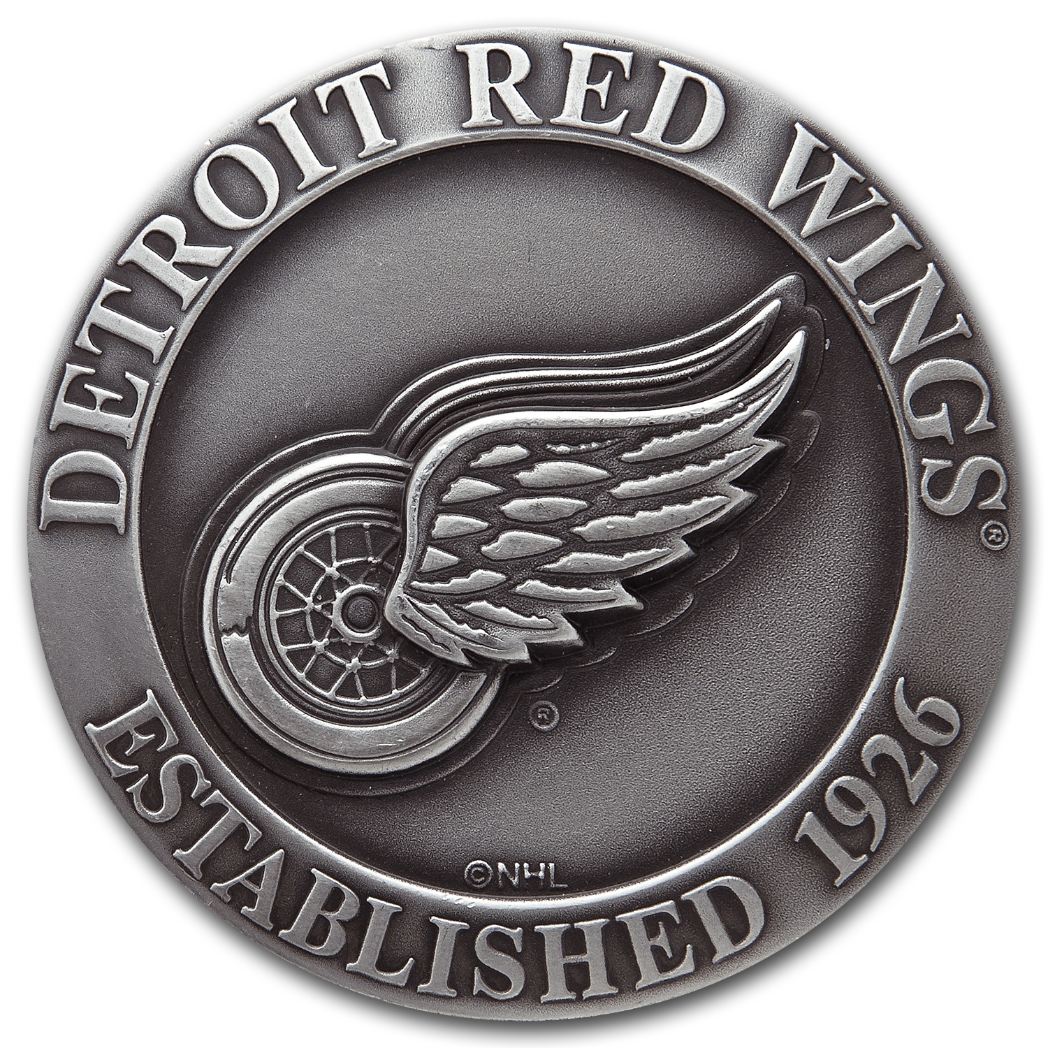 4.315 oz Silver Rounds - Detroit Red Wings