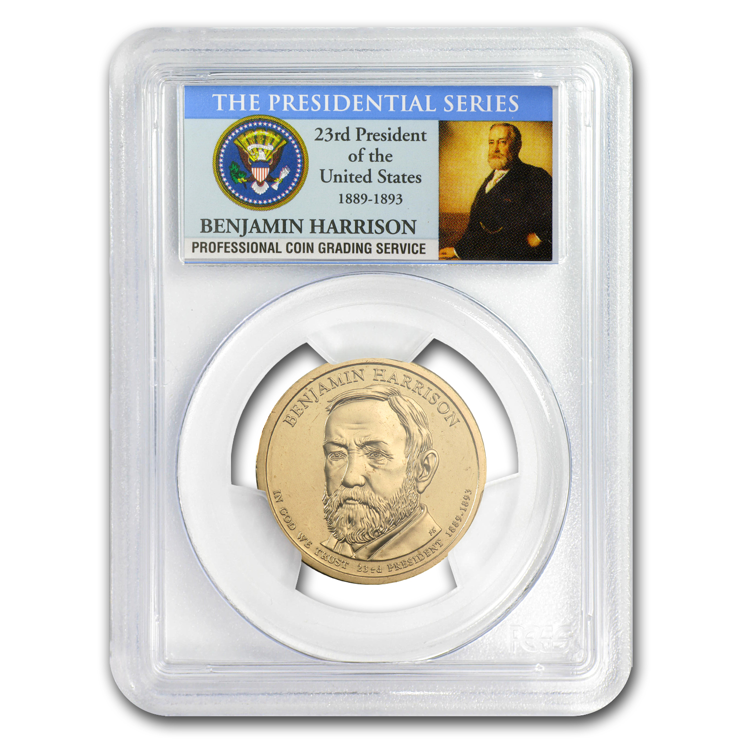 2012-P A Position Benjamin Harrison Dollar MS-67 PCGS