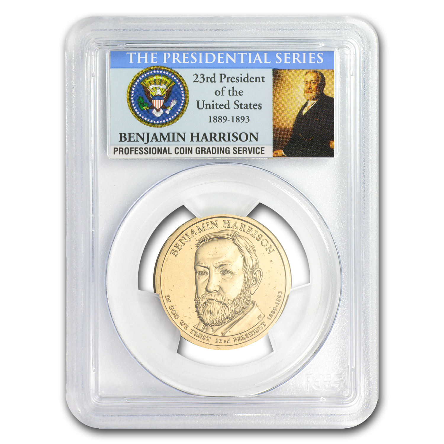2012-P A Position Benjamin Harrison Dollar MS-66 PCGS