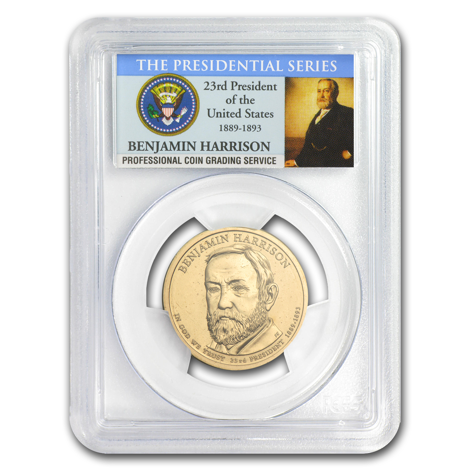 2012-P B Position Benjamin Harrison Dollar MS-66 PCGS