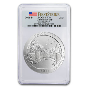 2010-2012-P 15-Coin 5 oz Silver ATB Set SP-70 PCGS (1st Strike)