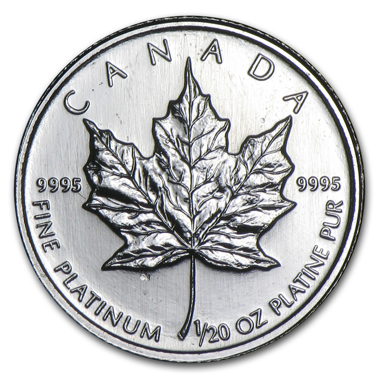 1/20 oz Canadian Platinum Maple Leaf (Random Year)