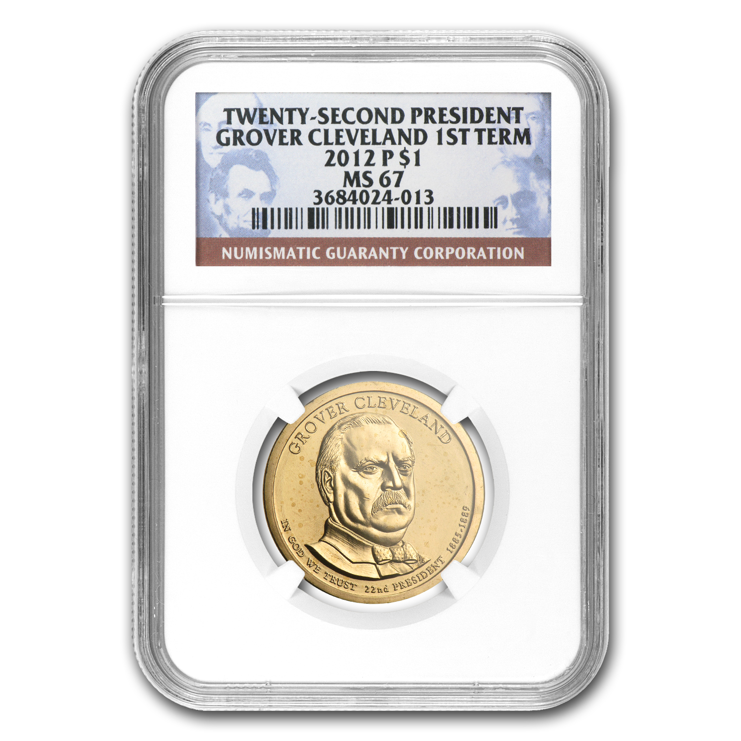 2012-P Grover Cleveland Presidential Dollar MS-67 NGC
