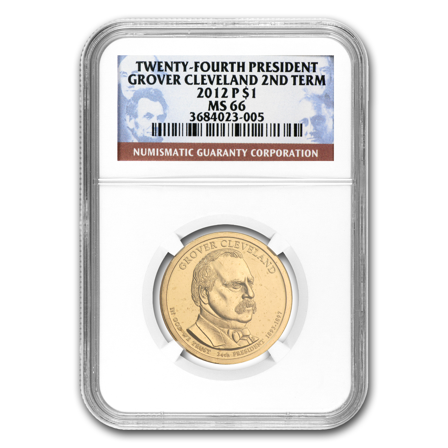 2012-P Grover Cleveland Presidential Dollar MS-66 NGC