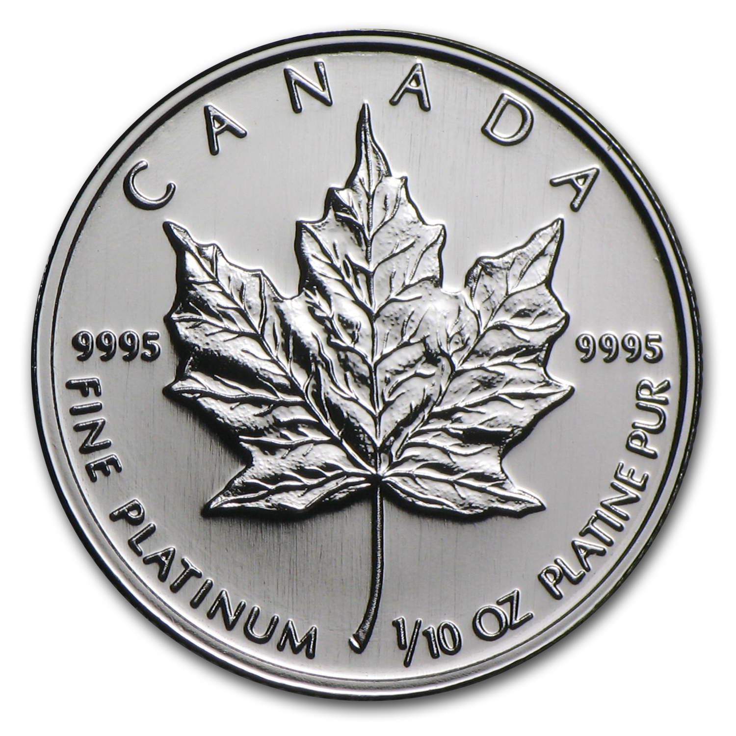 Canada 1/10 oz Platinum Maple Leaf BU (Random Year)