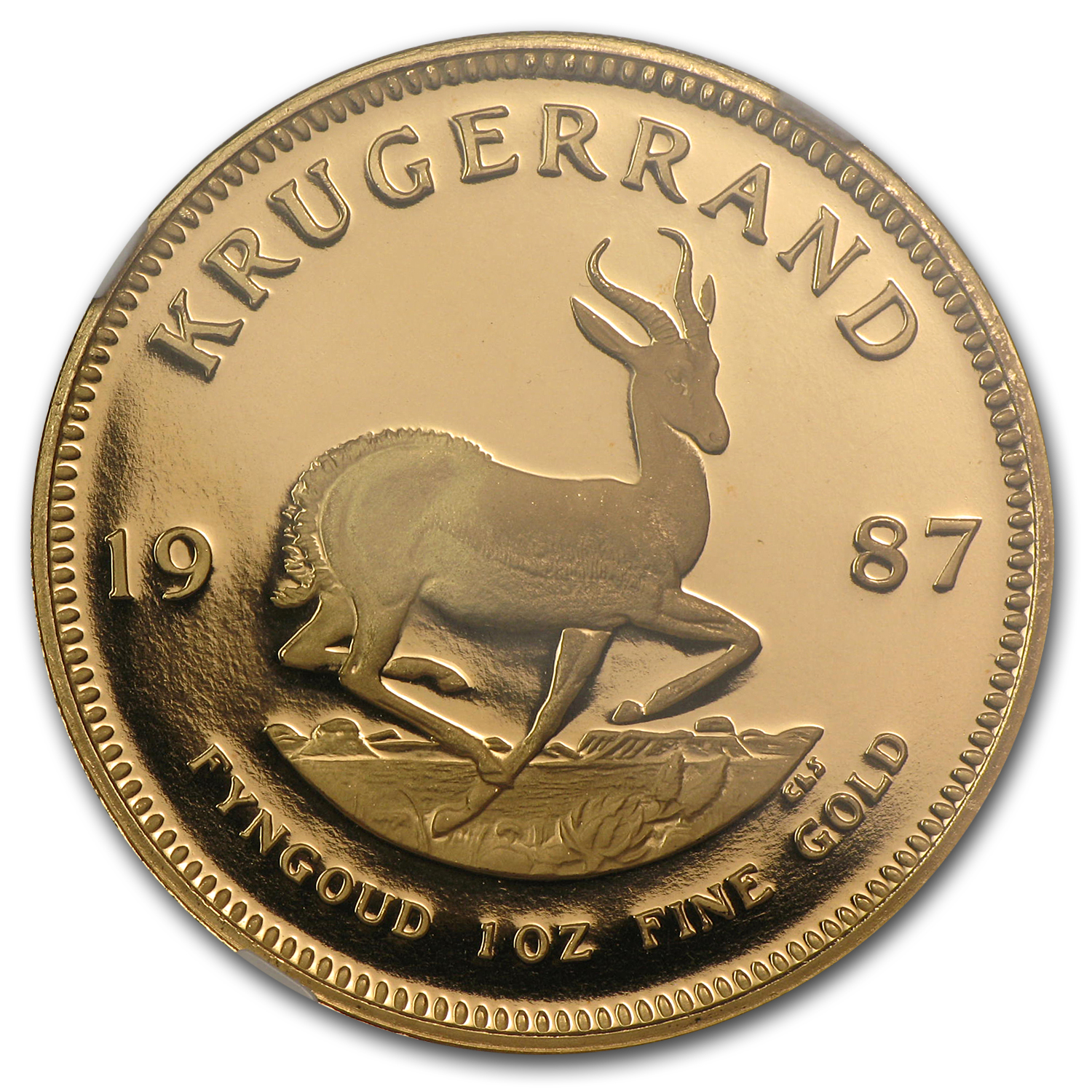 1987 1 oz Gold South African Krugerrand PF-69 NGC