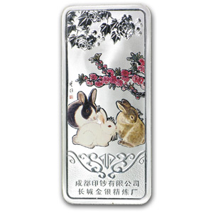 30 gram Silver Bar - The Jasper Rabbit (China)
