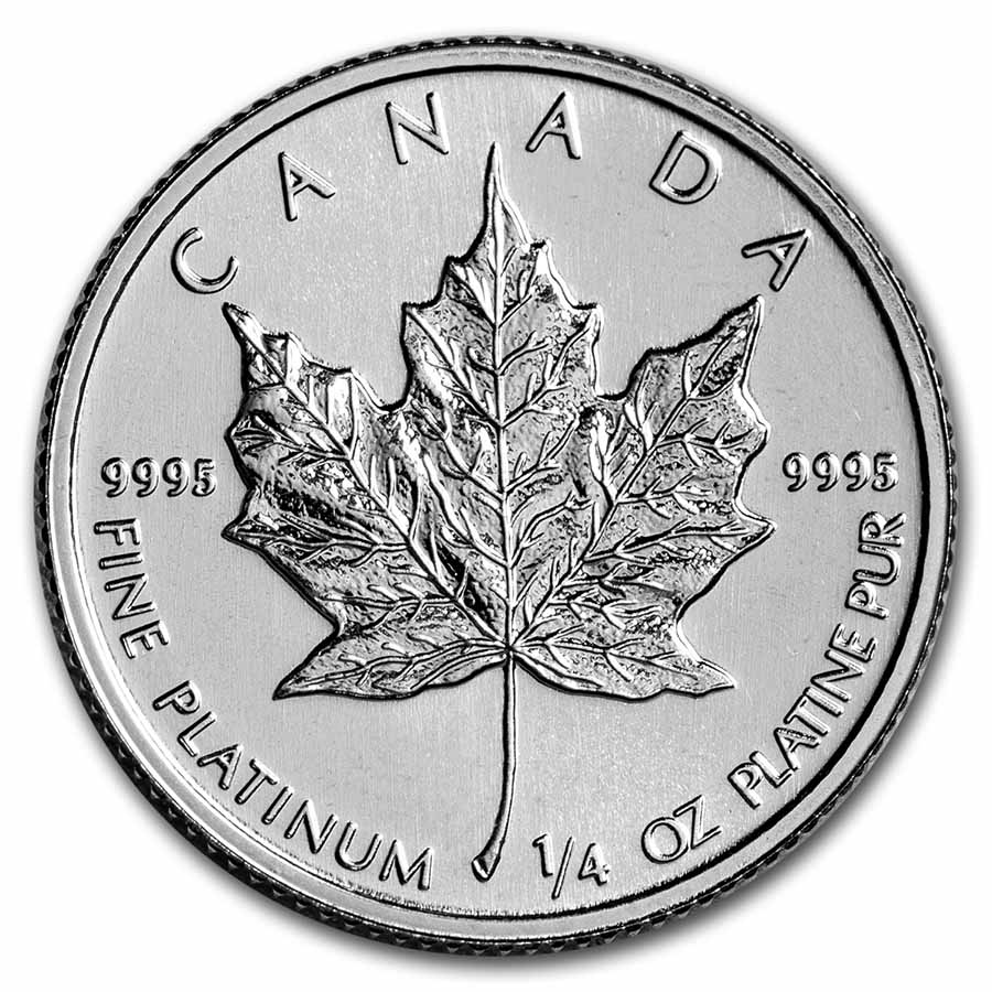 1/4 oz Canadian Platinum Maple Leaf BU (Random Year)