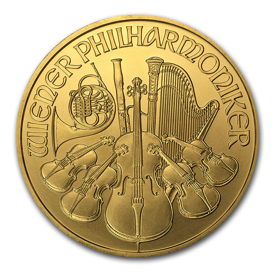 2002 1 oz Gold Austrian Philharmonic