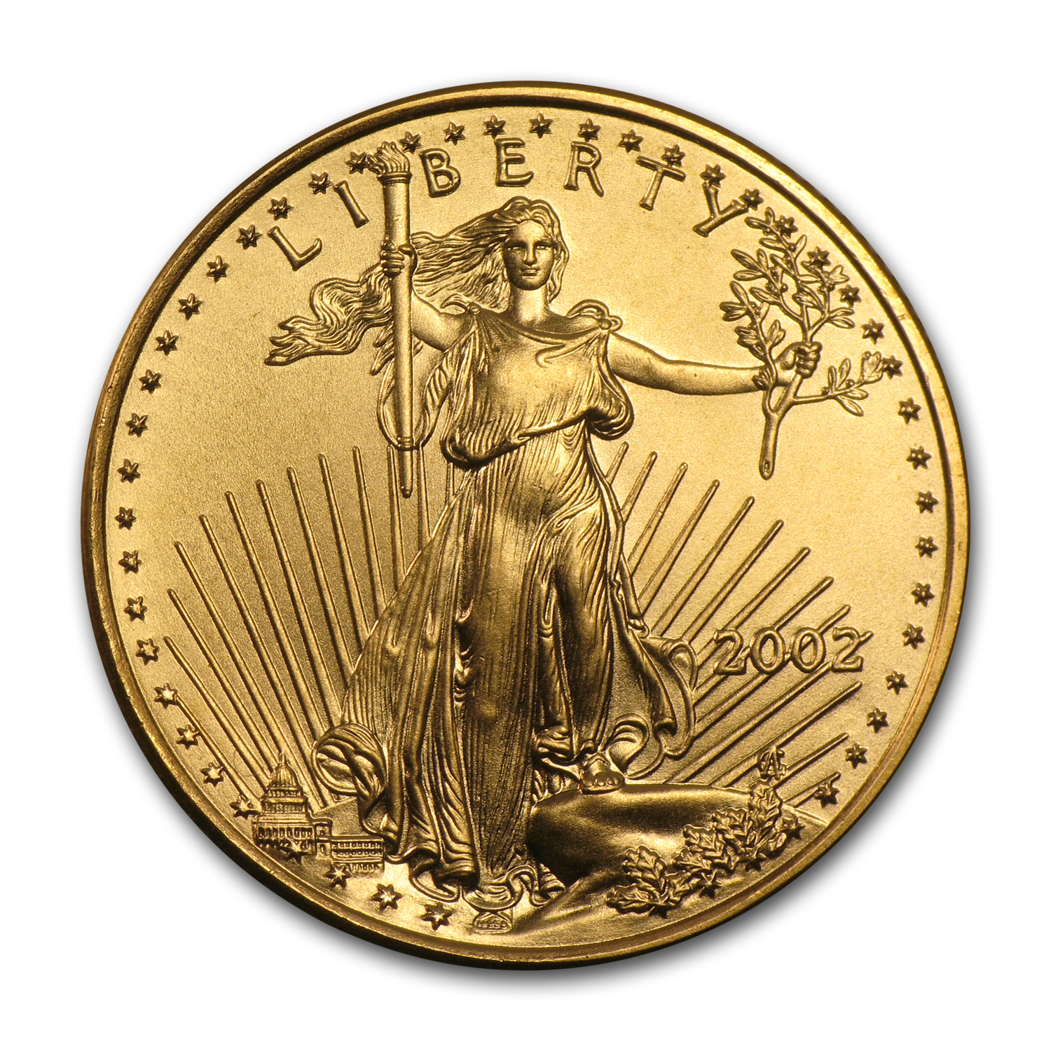 2002 1/4 oz Gold American Eagle BU