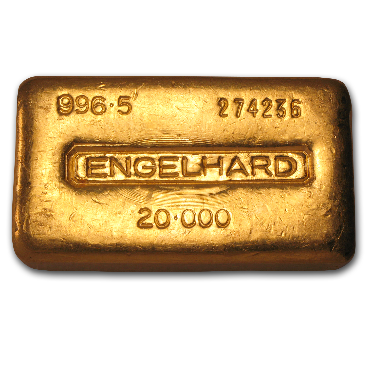 20 oz Gold Bar - Engelhard (Loaf-Style/Poured, .996.5 Fine)