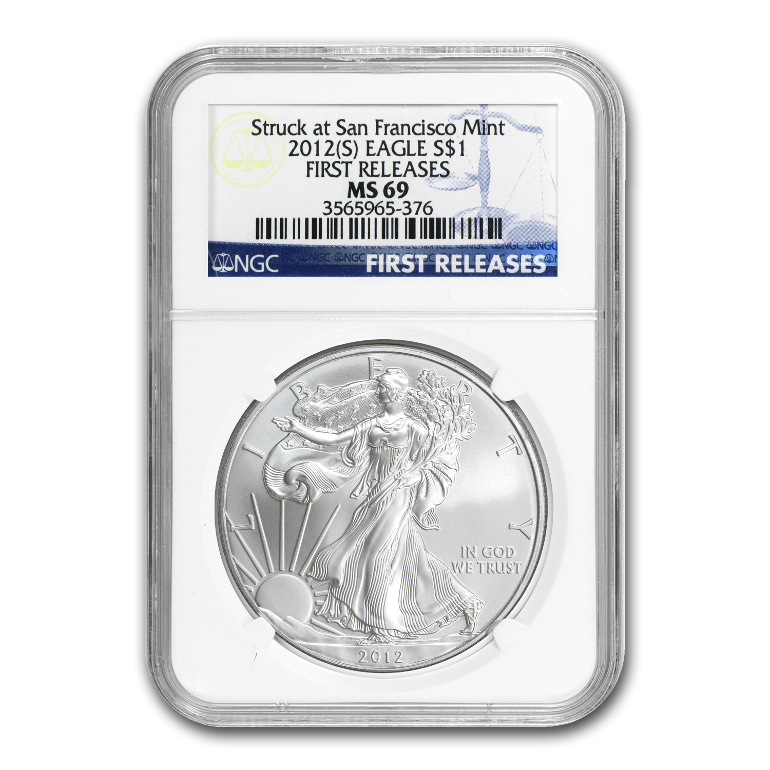 2012 (S) Silver American Eagle MS-69 NGC (First Releases)