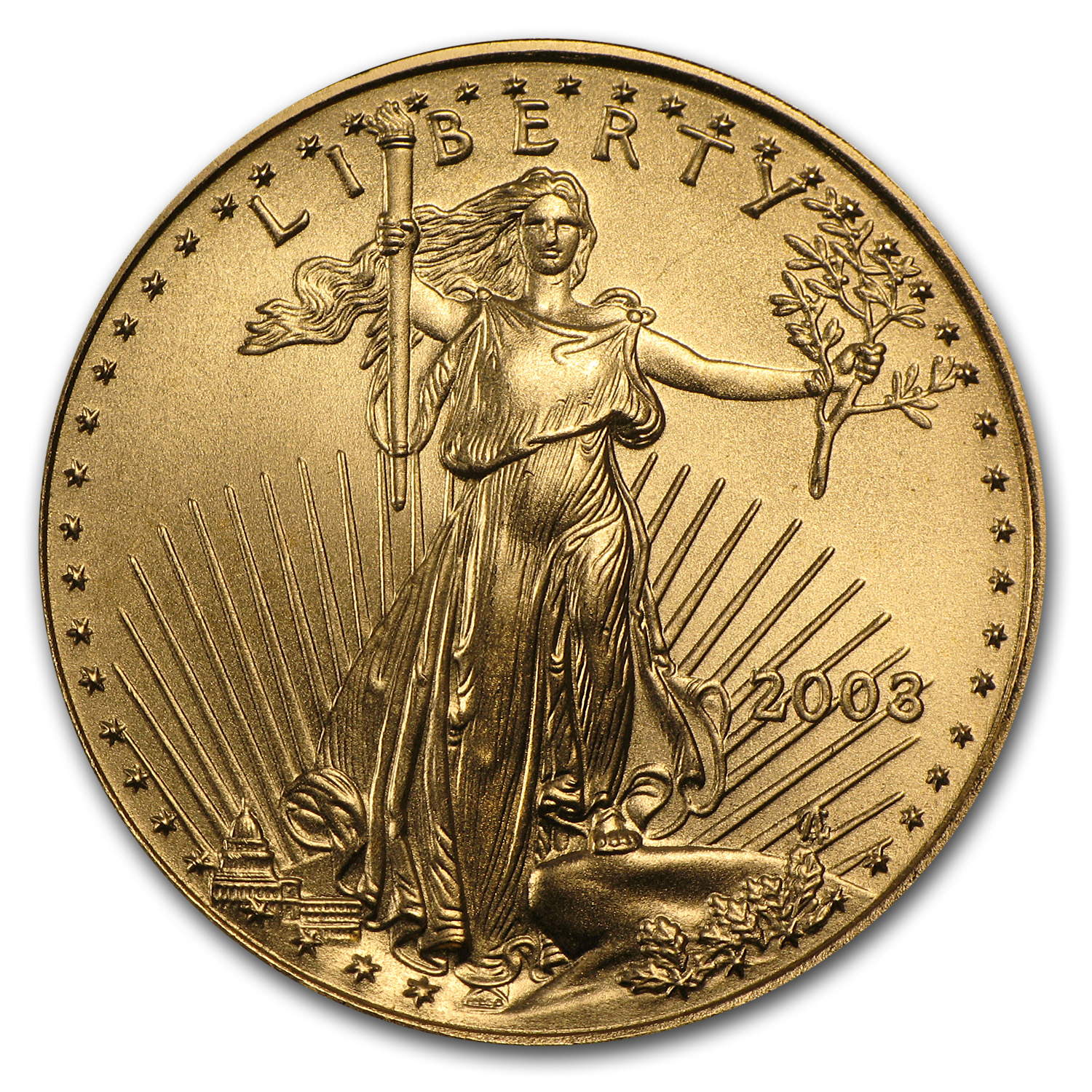 2003 1/2 oz Gold American Eagle BU