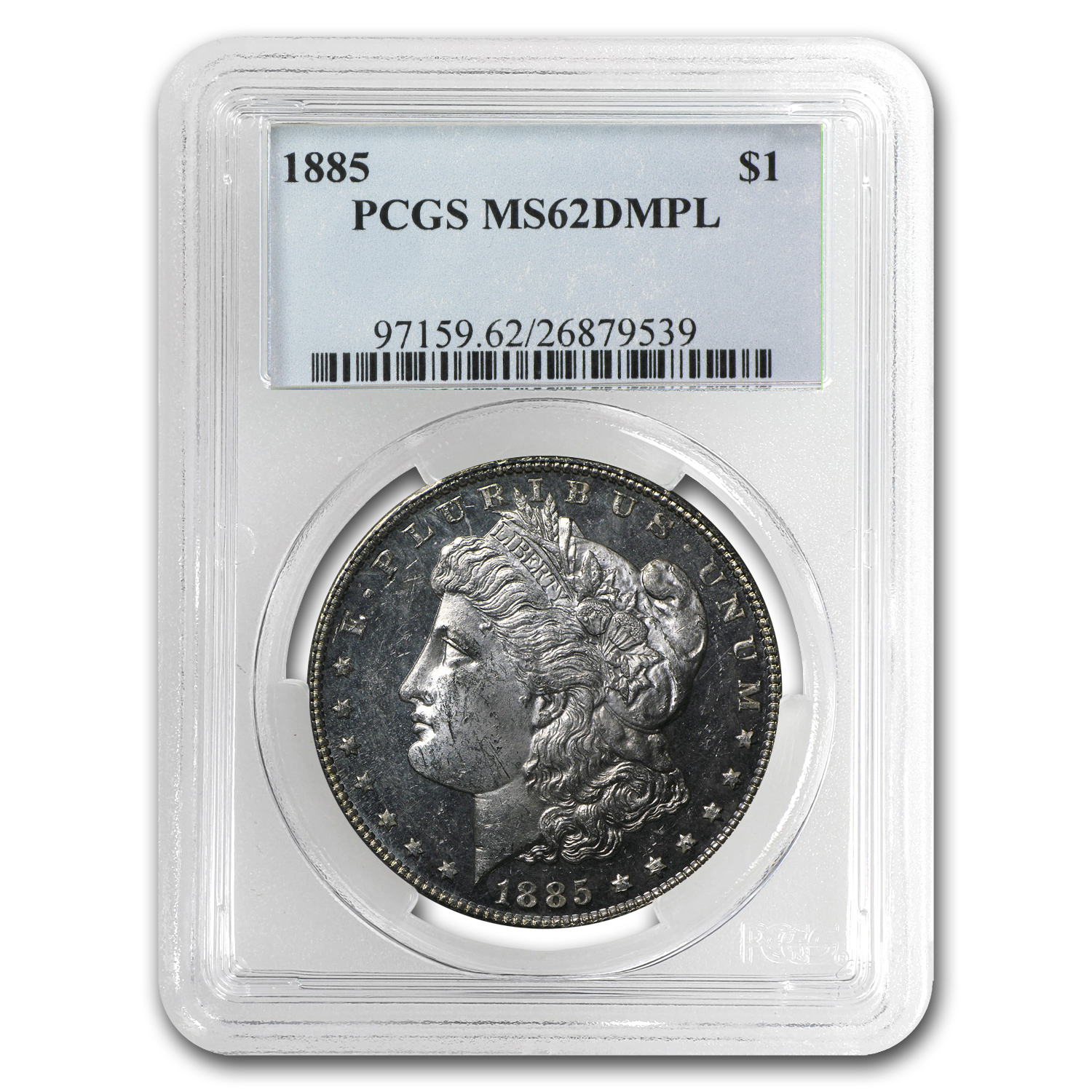 1885 Morgan Dollar MS-62 DMPL PCGS