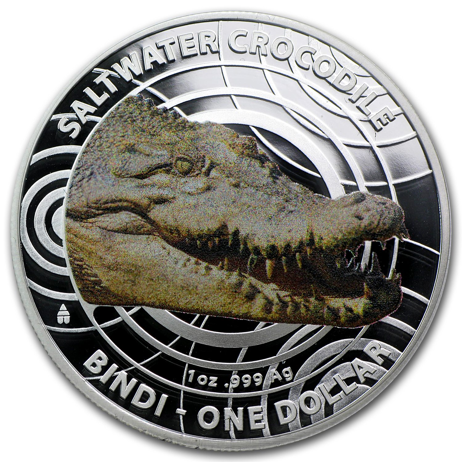 2013 Australia Silver Saltwater Crocodiles Bindi Prf (Colorized)