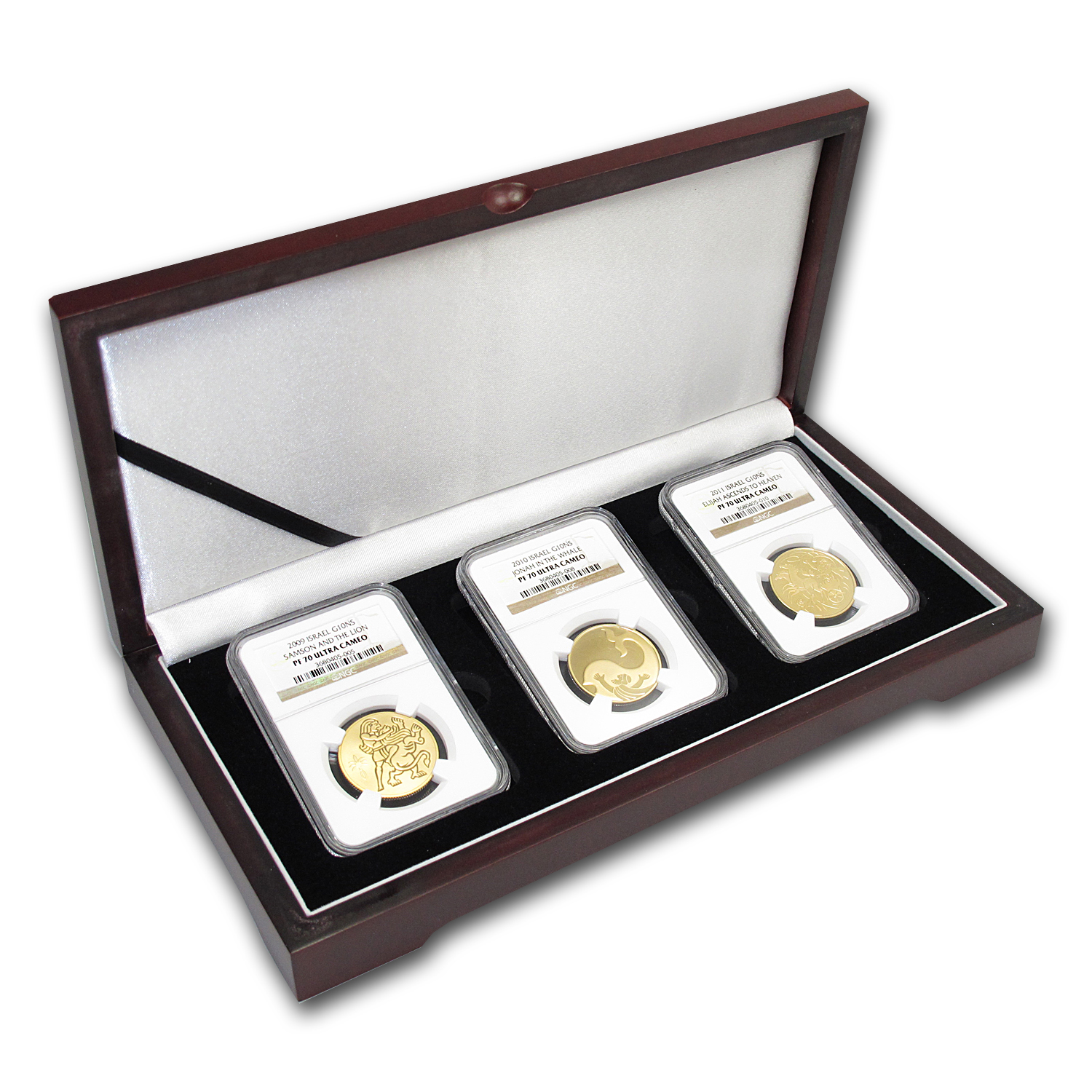 Israel 3-Coin 1/2 oz Gold Biblical Art Series Proof Set PF-70 NGC
