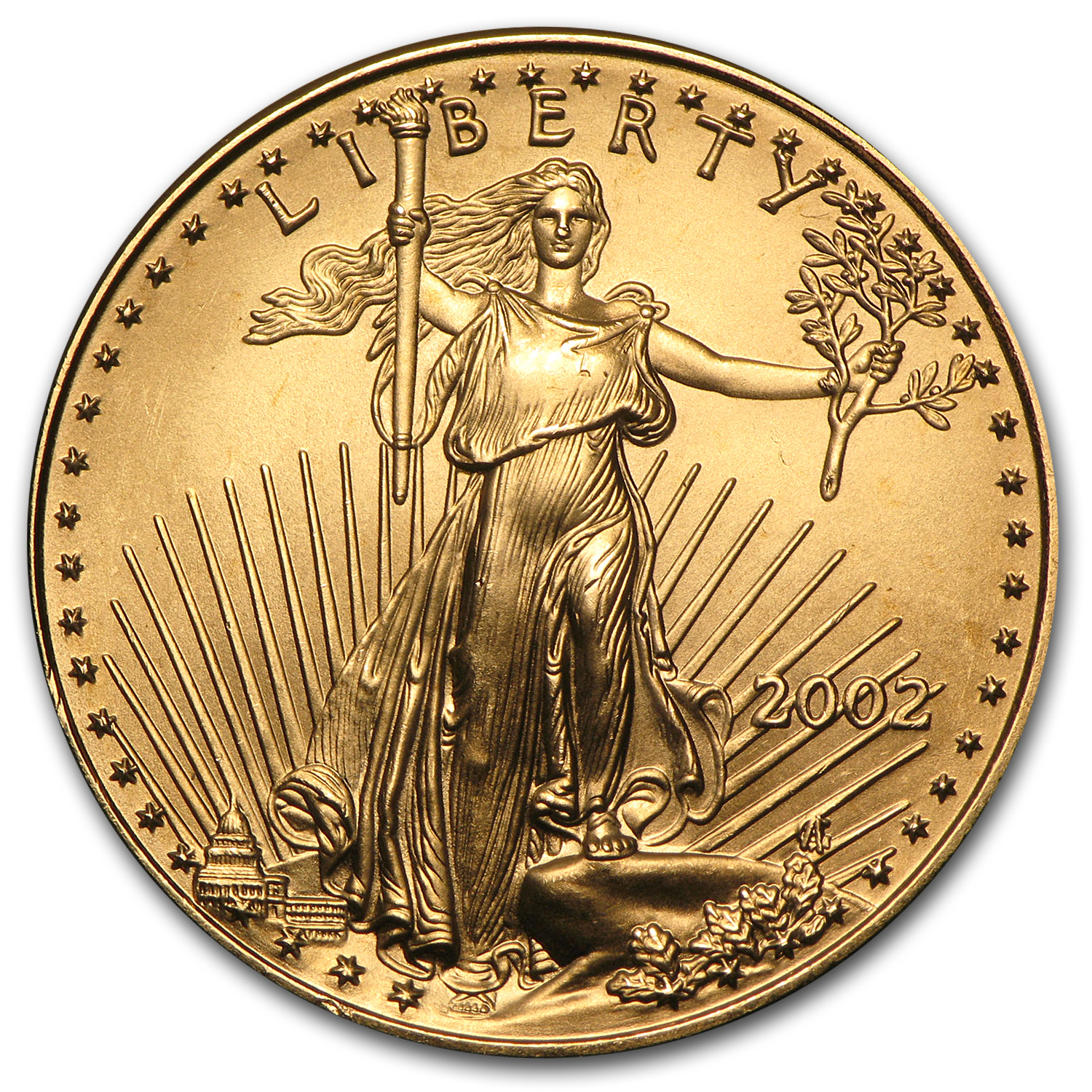 2002 1/2 oz Gold American Eagle BU