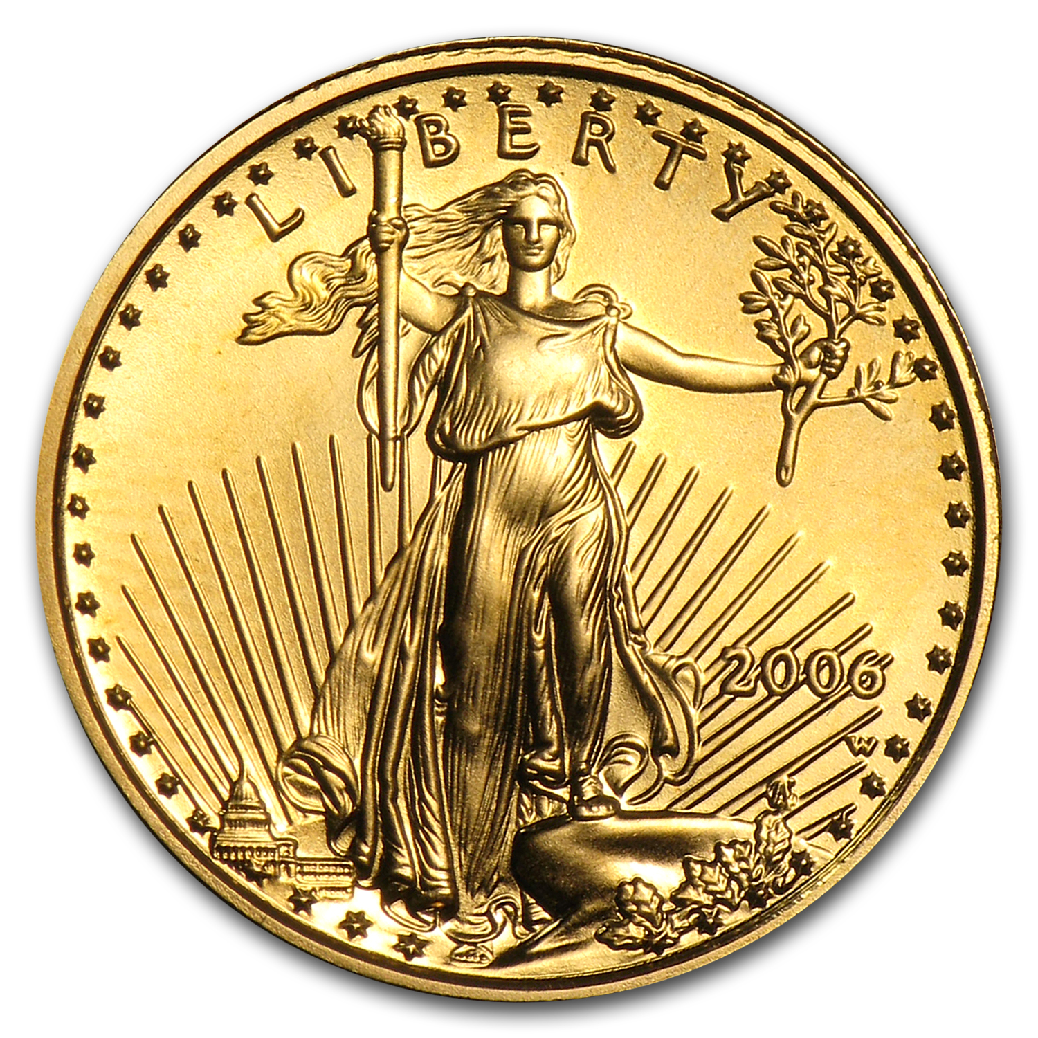 2006-W 1/10 oz Burnished Gold American Eagle