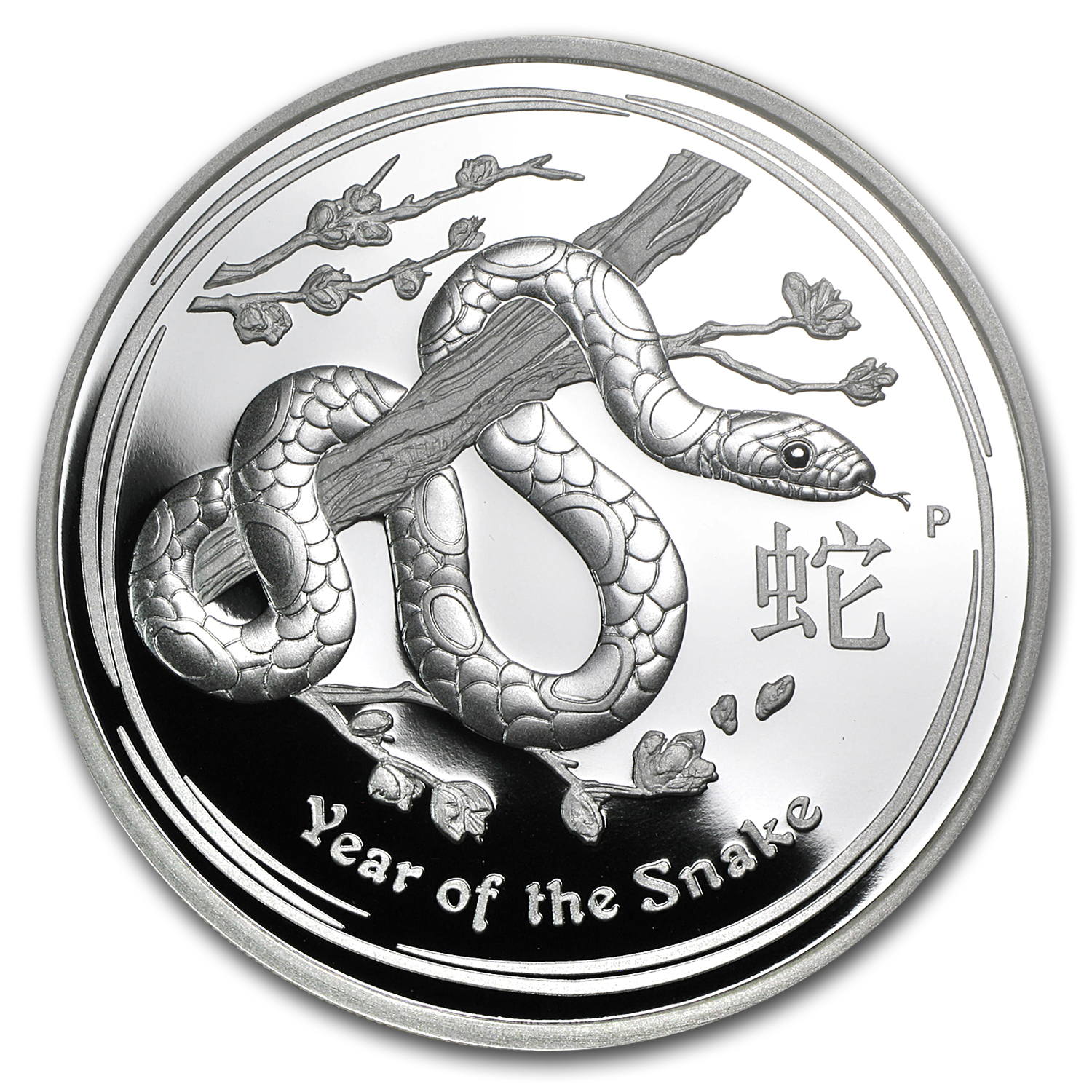 2013 5 oz Silver Australian Year of the Snake Proof