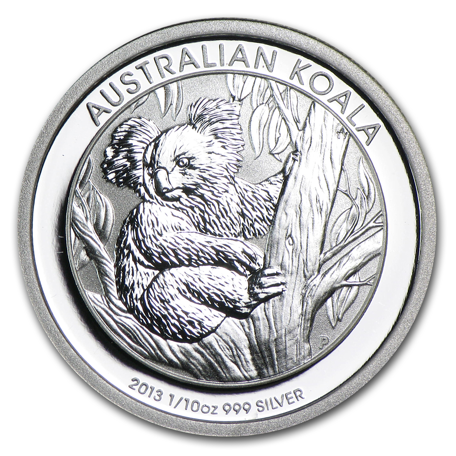 2013 Australia 1/10 oz Silver Koala BU (In display card)