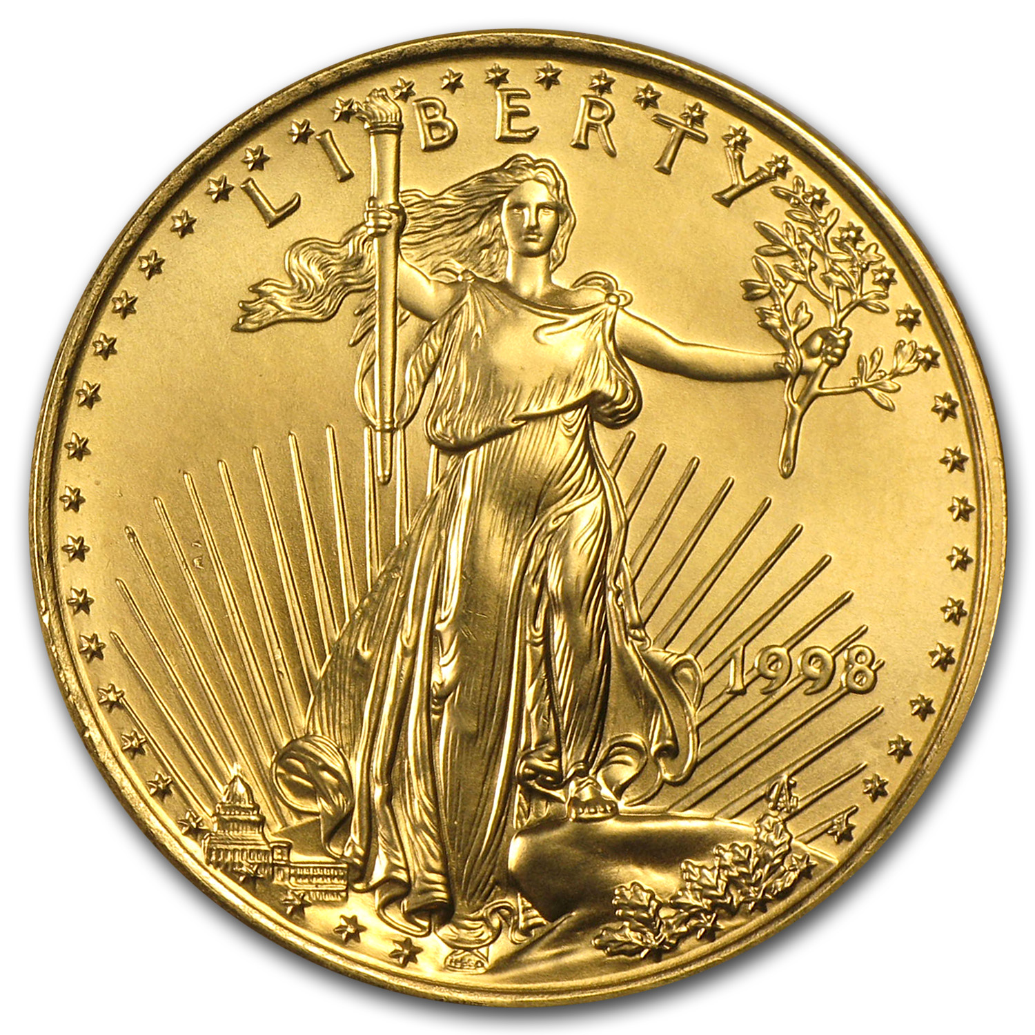 1998 1/2 oz Gold American Eagle BU