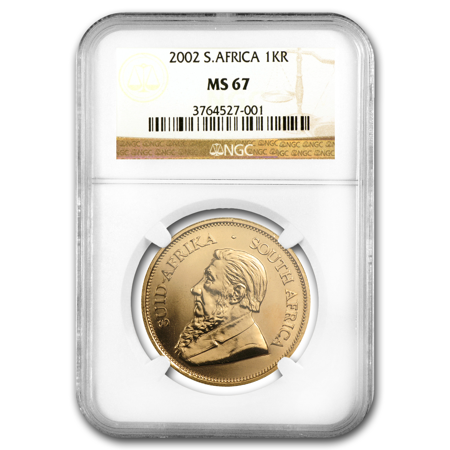 2002 South Africa 1 oz Gold Krugerrand MS-67 NGC