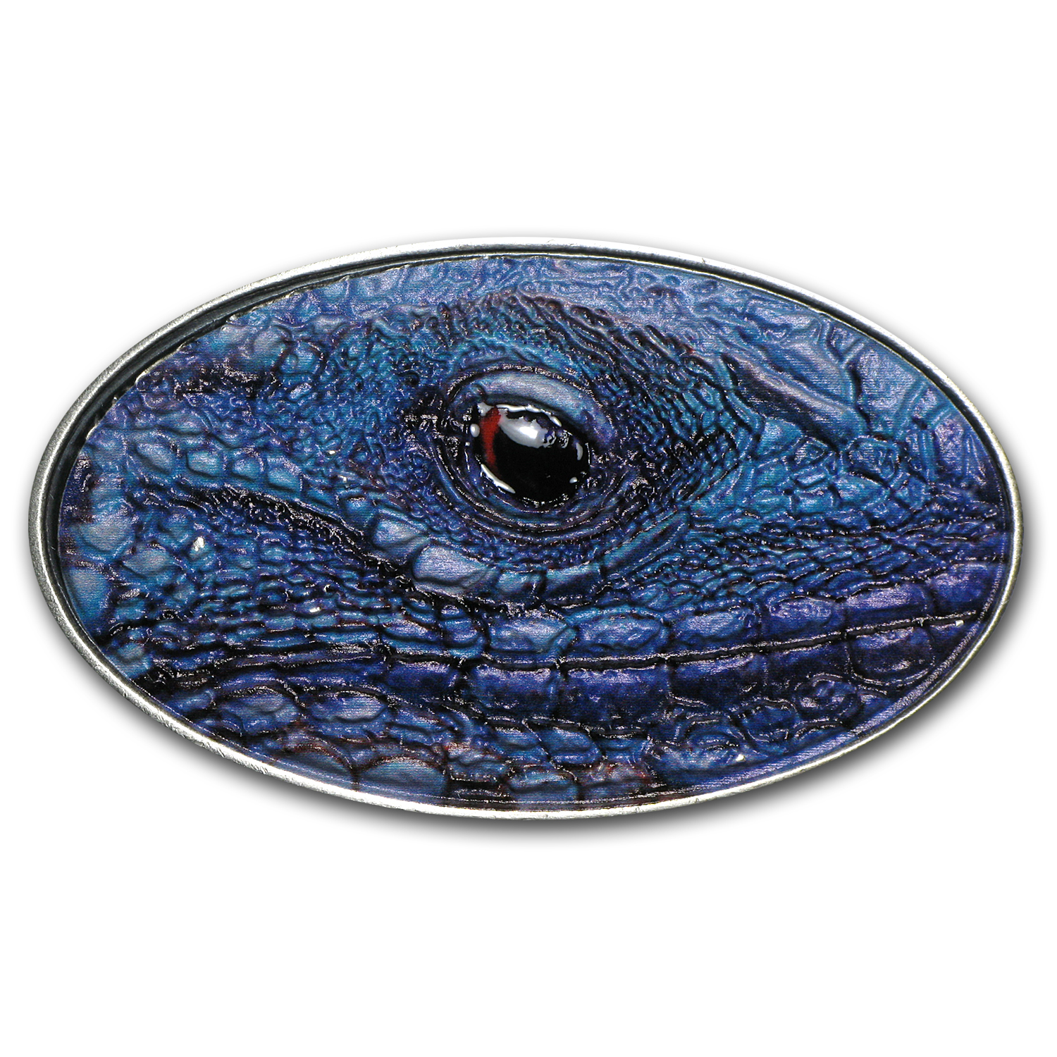 Niue 2012 Silver $2 XL Ultra High Relief Blue Iguana