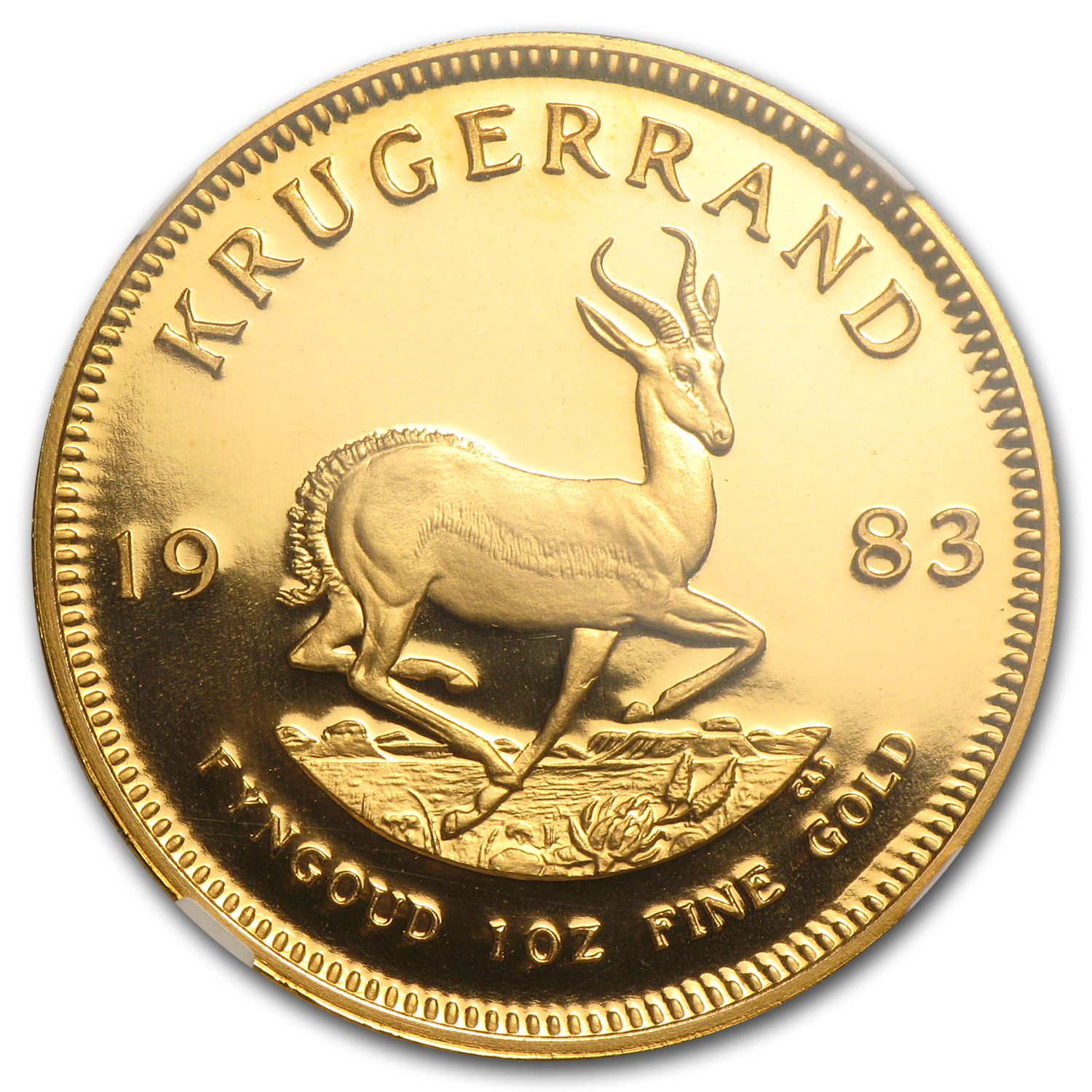 1983 1 oz Gold South African Krugerrand PF-69 NGC