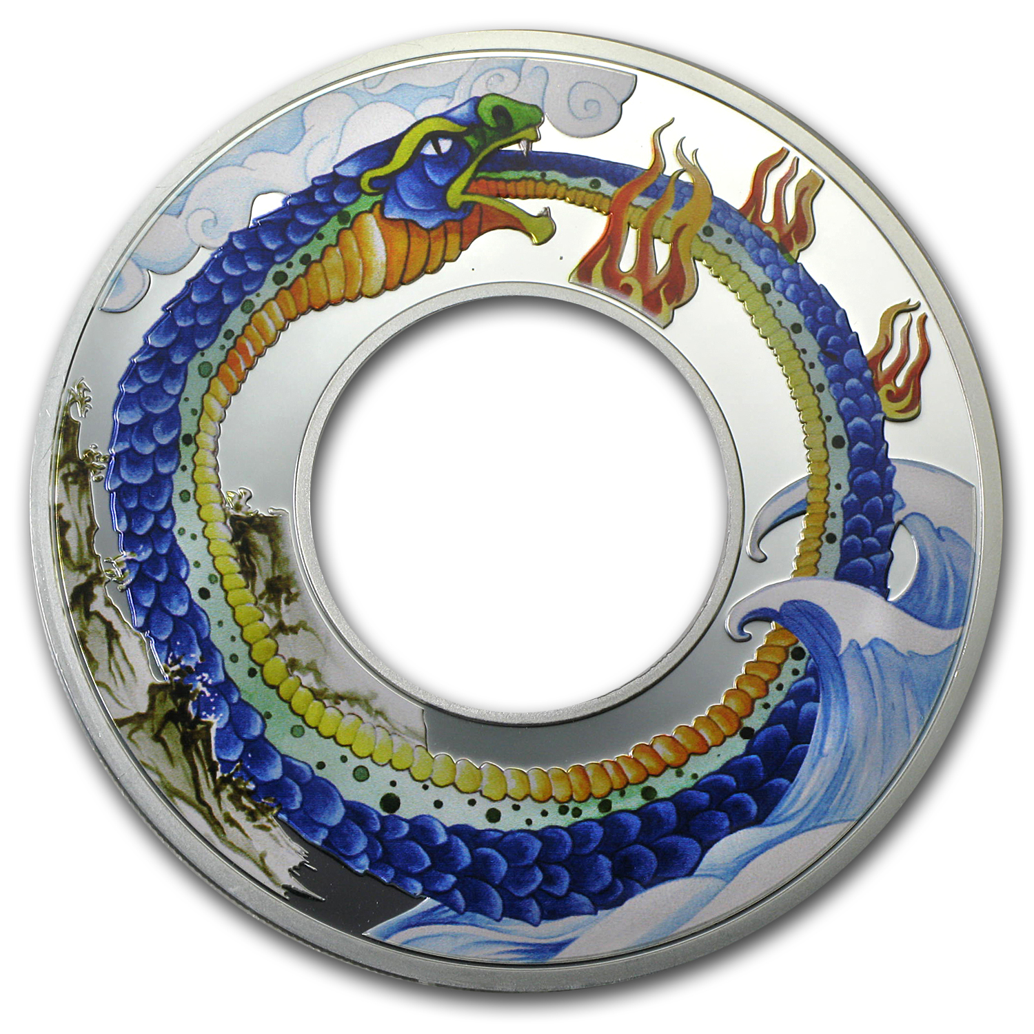 Tokelau 2013 Proof Silver $10 Infinity Snake Ring Coin