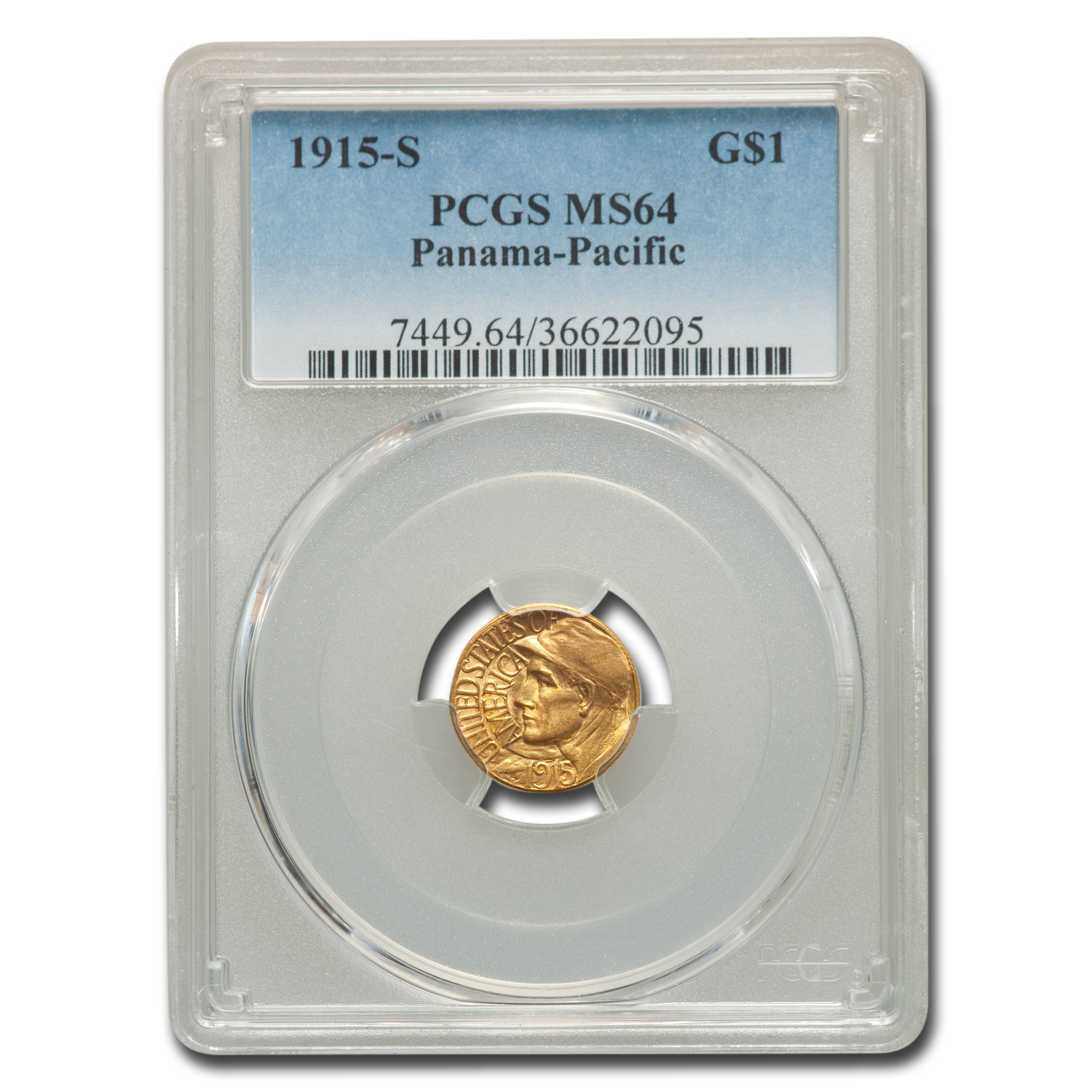 1915-S Gold $1.00 Panama-Pacific MS-64 PCGS