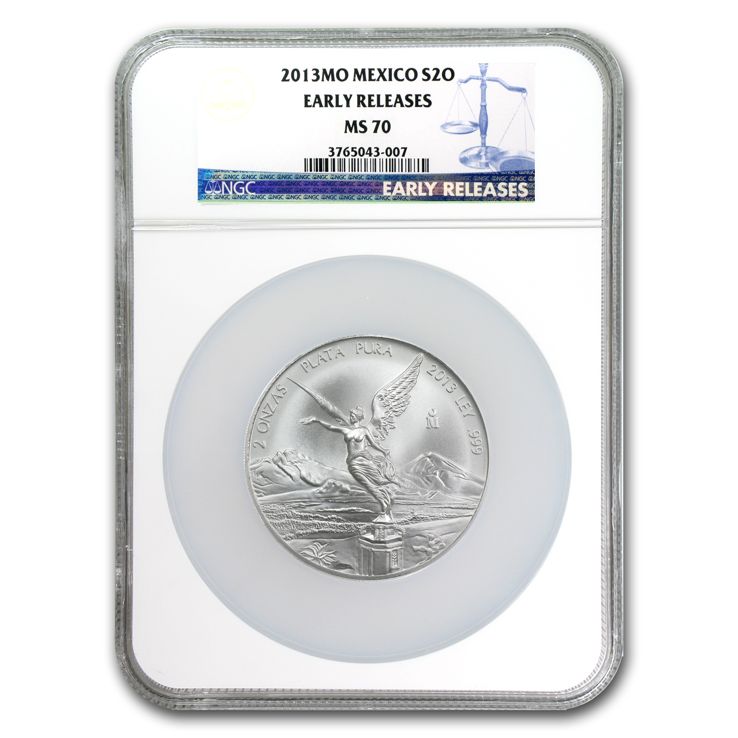 2013 2 oz Silver Libertad MS-70 NGC (ER) - Registry Set